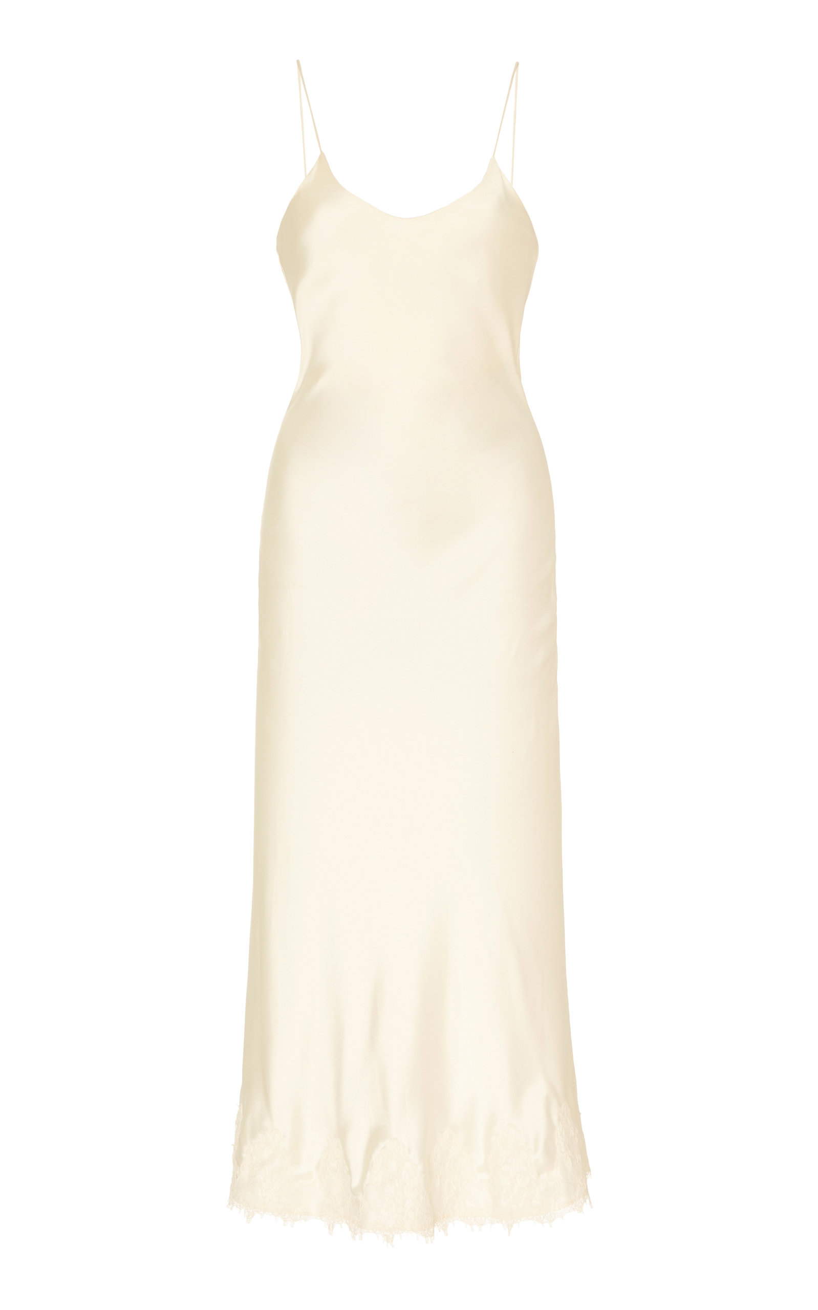 Buy Markarian Verona Lace-Trimmed Silk-Satin Slip Dress online, shop Markarian at the best price