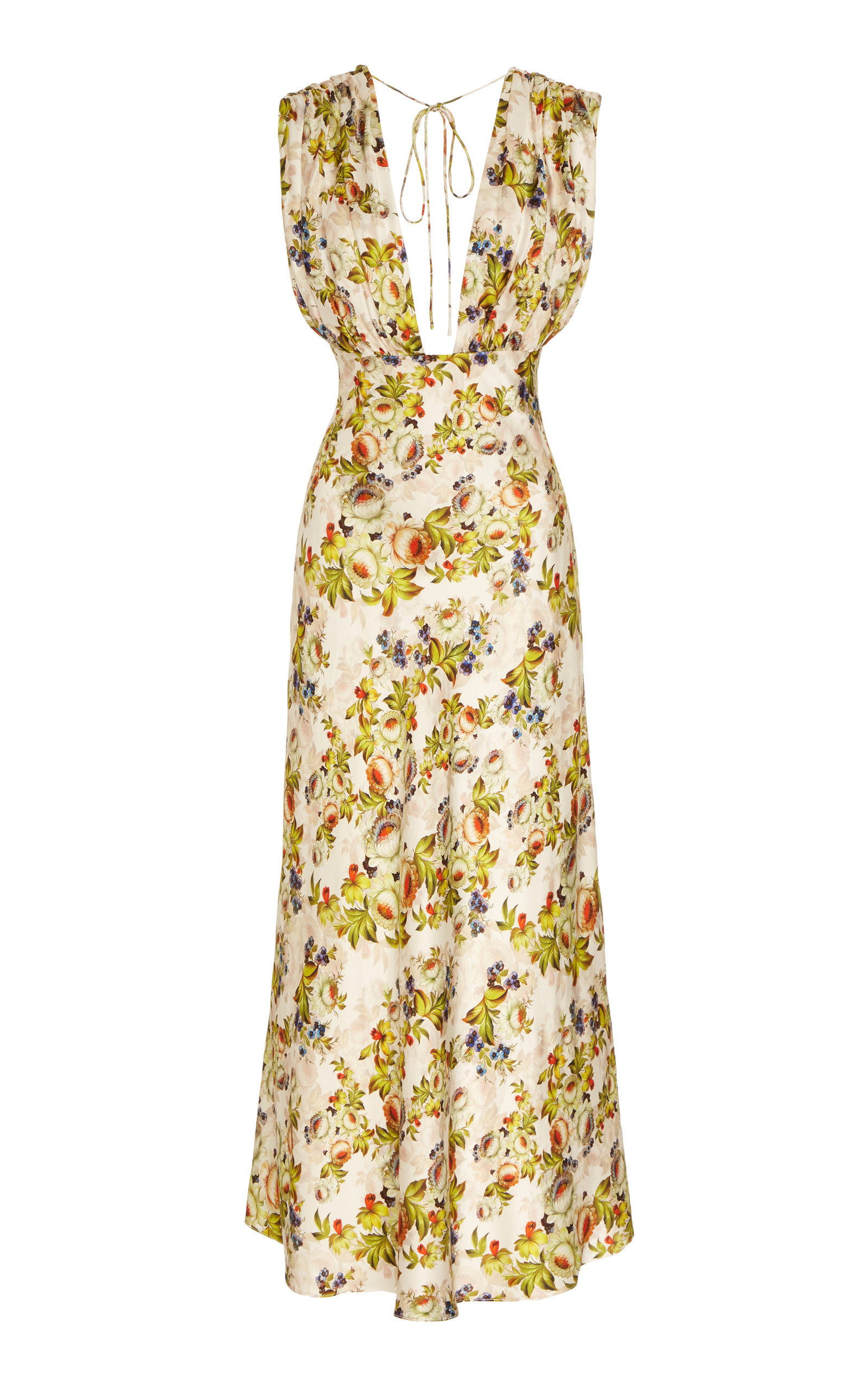Markarian DONNA FLORAL RUCHED TOP DRESS