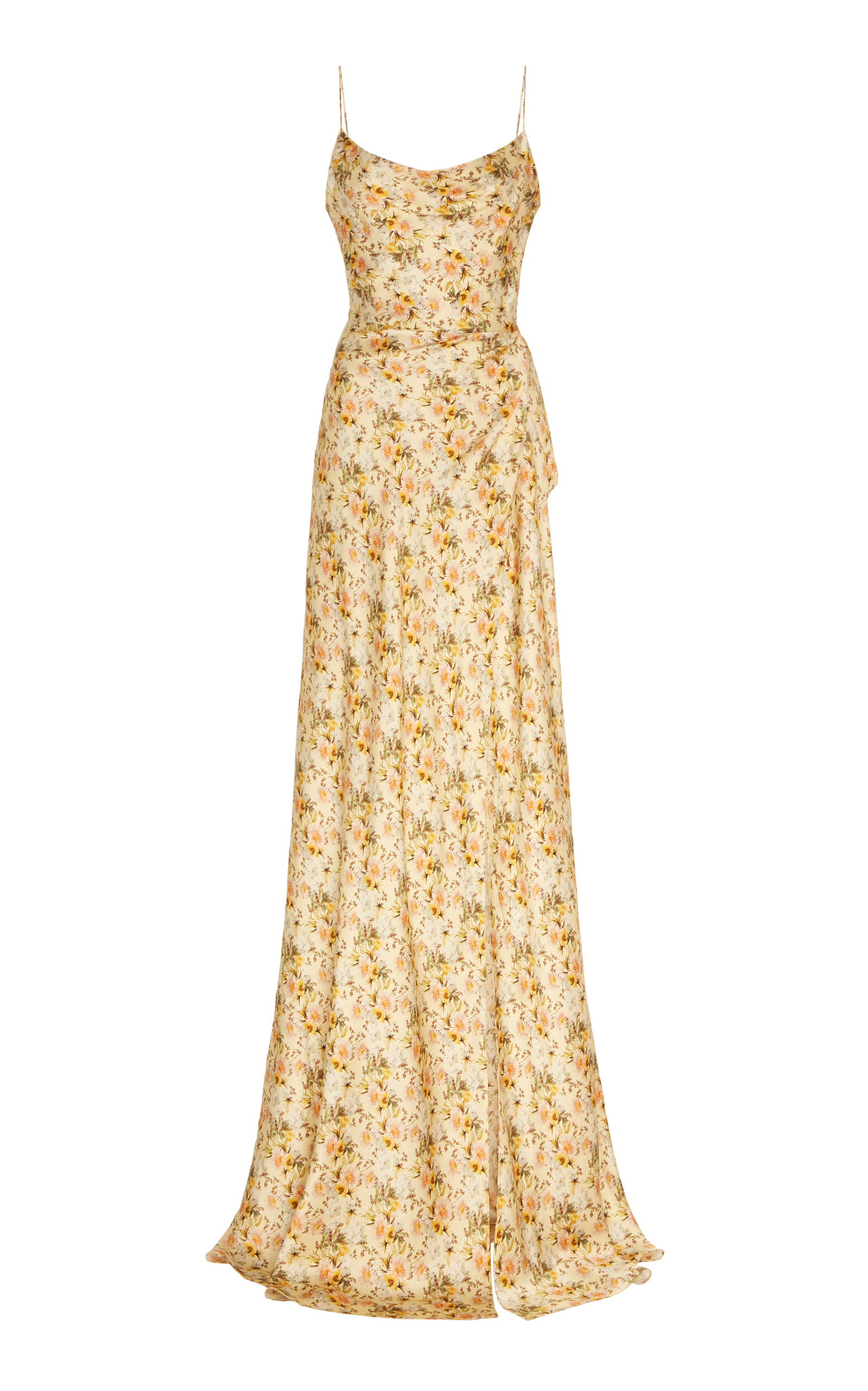Buy Markarian Dashwood Floral-Print Silk-Satin Gown online, shop Markarian at the best price
