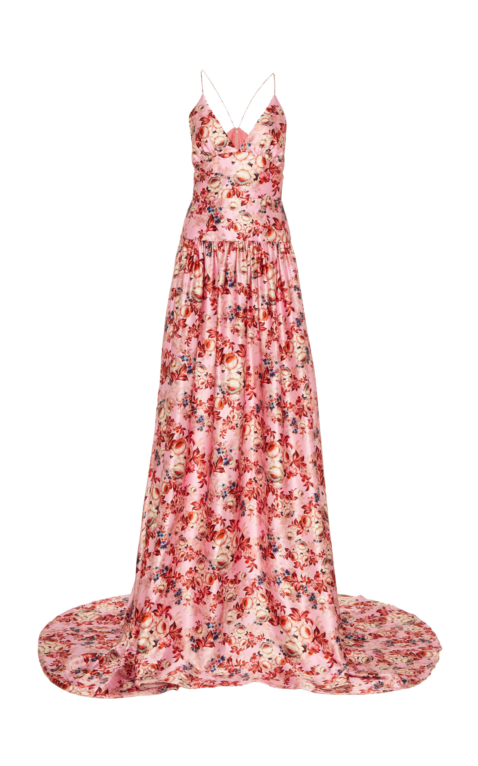 Buy Markarian Angelica Floral Satin Gown online, shop Markarian at the best price