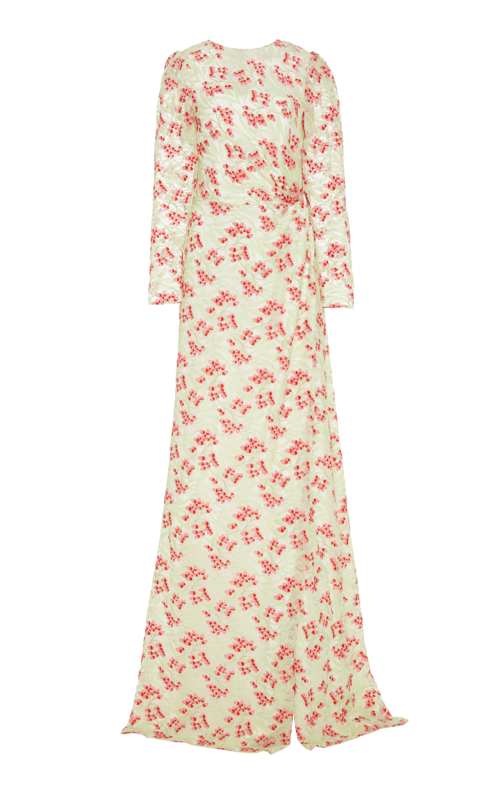 Buy Markarian Brunelleschi Floral-Print Lace Gown online, shop Markarian at the best price