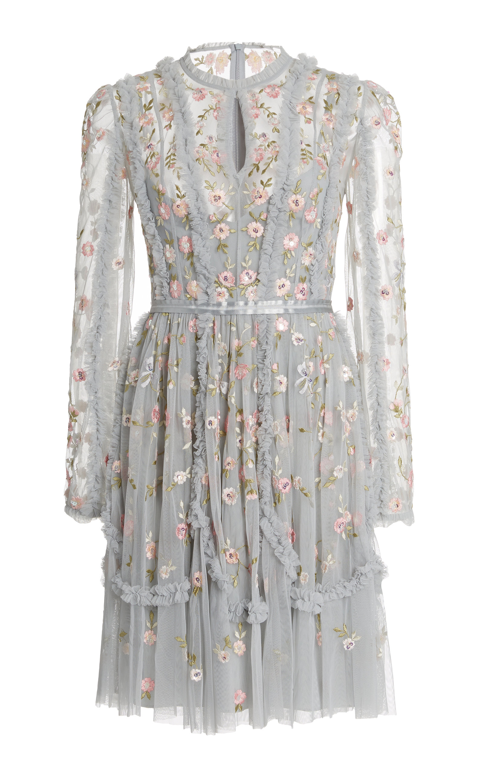 Buy Needle & Thread Wallflower Embroidered Tulle Mini Dress online, shop Needle & Thread at the best price