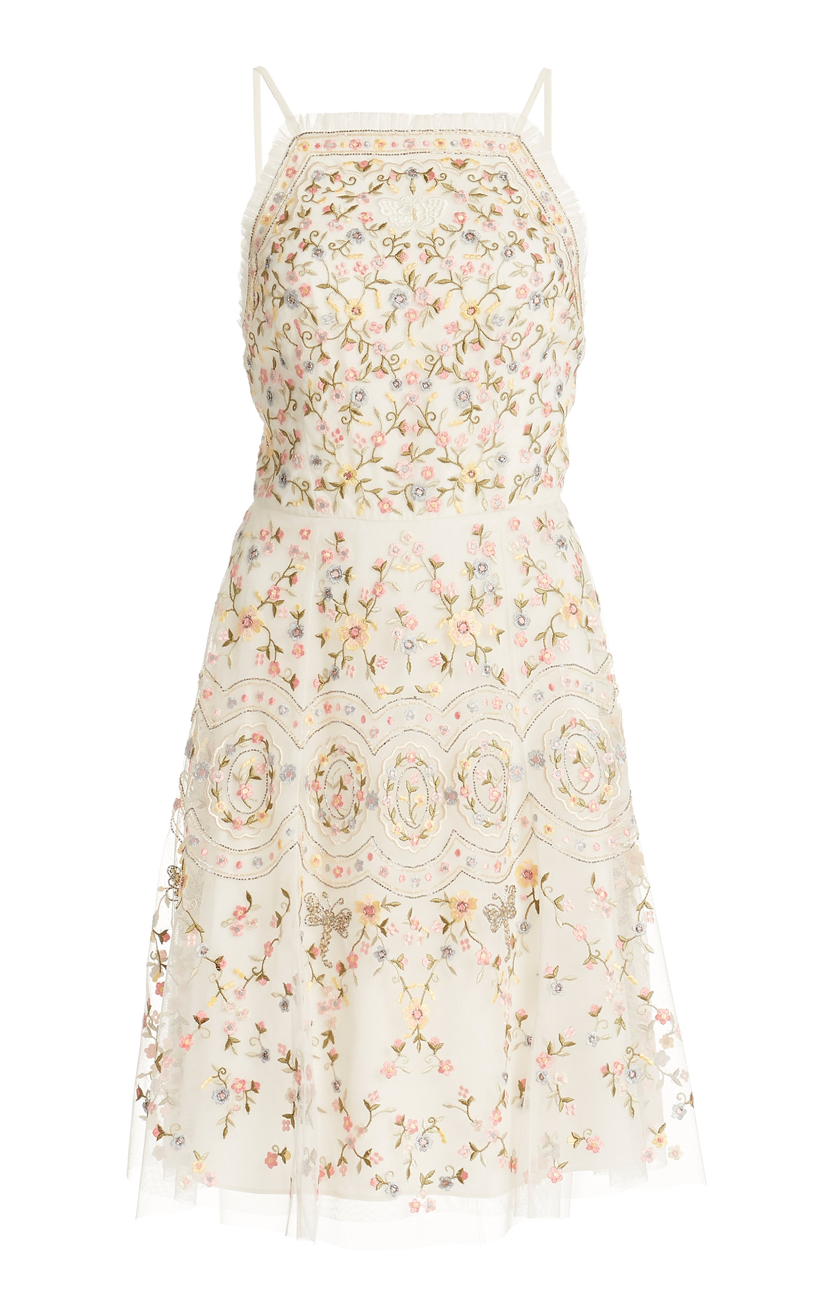 Buy Needle & Thread Sweet Petal Embroidered Mini Dress online, shop Needle & Thread at the best price