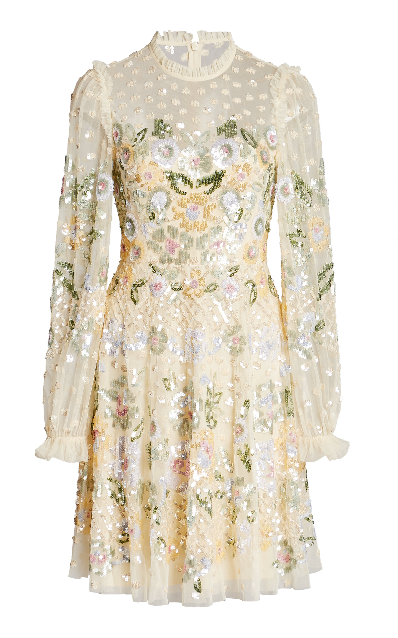 Buy Needle & Thread Rosalie Sequin-Embellished Tulle Mini Dress online, shop Needle & Thread at the best price