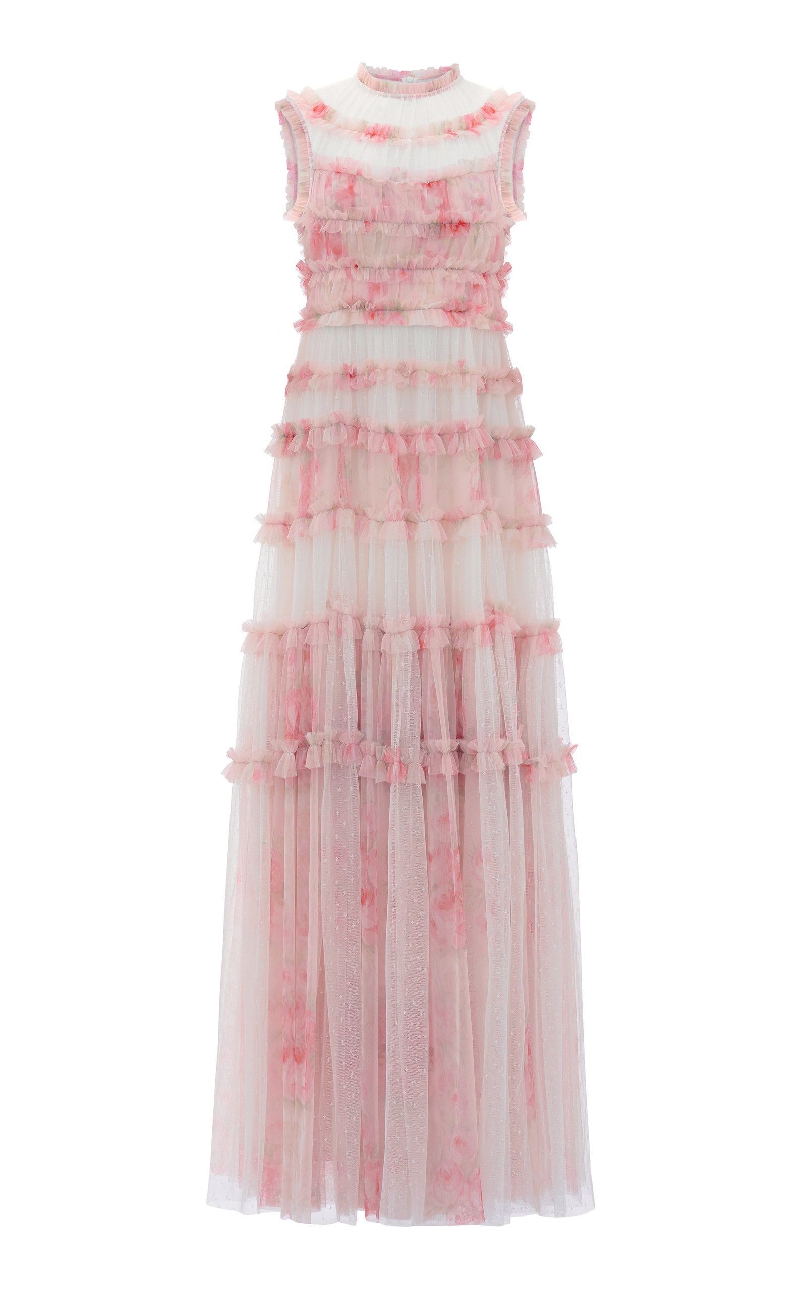 Buy Needle & Thread Memory Rose Frill Tulle Gown online, shop Needle & Thread at the best price