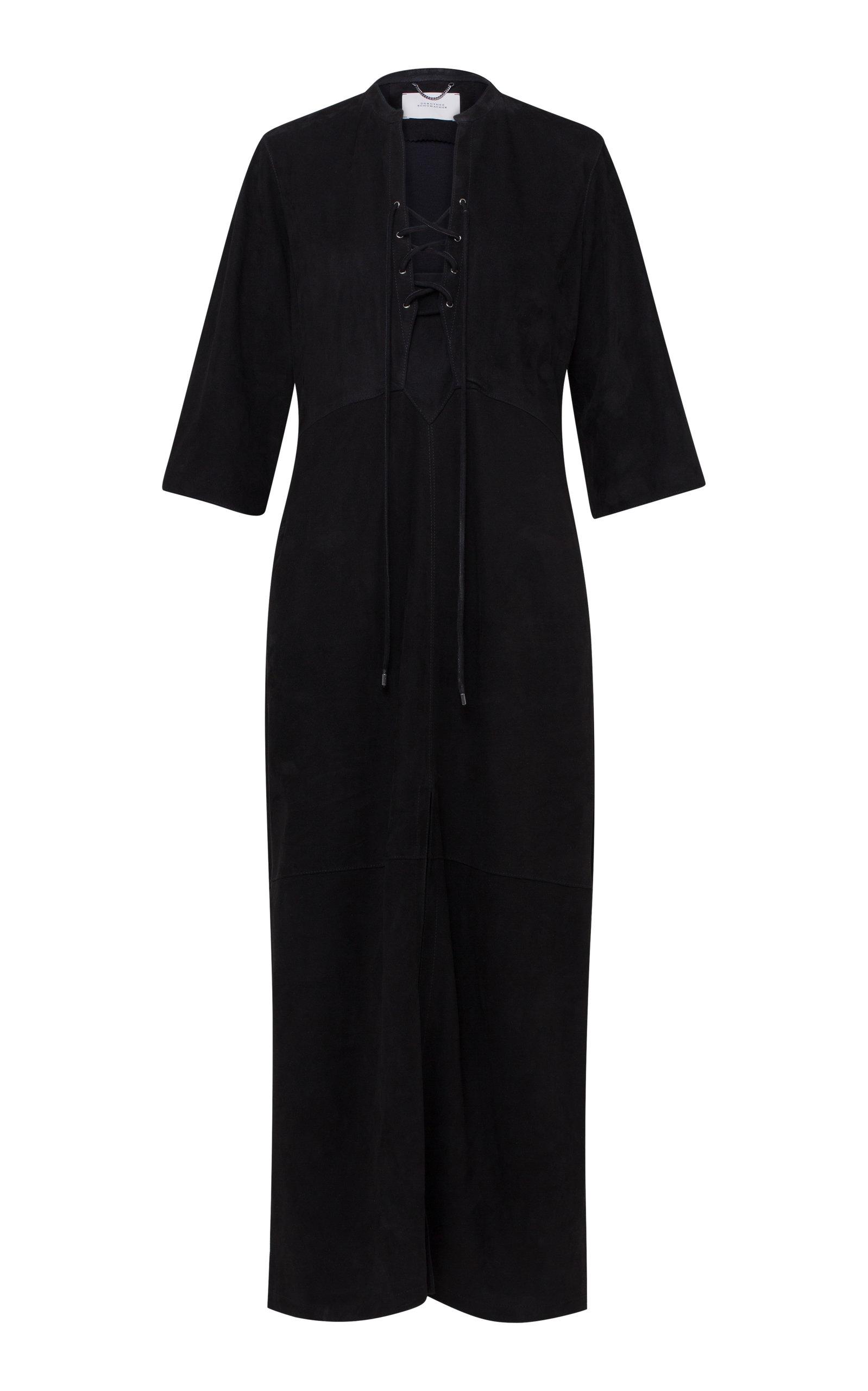 Buy Dorothee Schumacher Velour Softness Leather Midi Dress online, shop Dorothee Schumacher at the best price