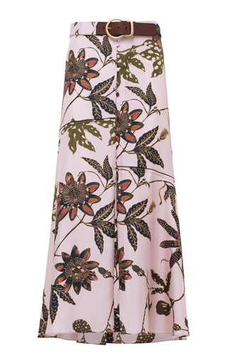 Dorothee Schumacher POWERFUL FLORA SILK MIDI SKIRT