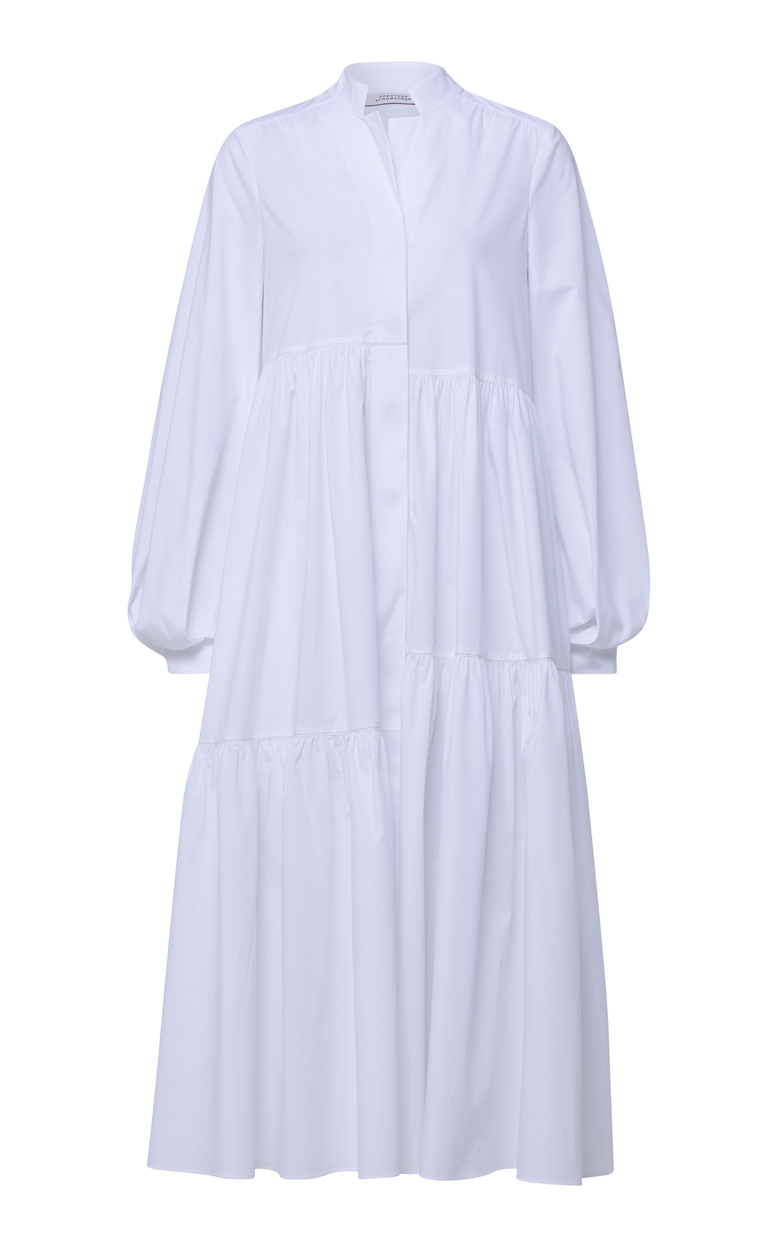 Buy Dorothee Schumacher Cotton-Blend Poplin Midi Dress online, shop Dorothee Schumacher at the best price