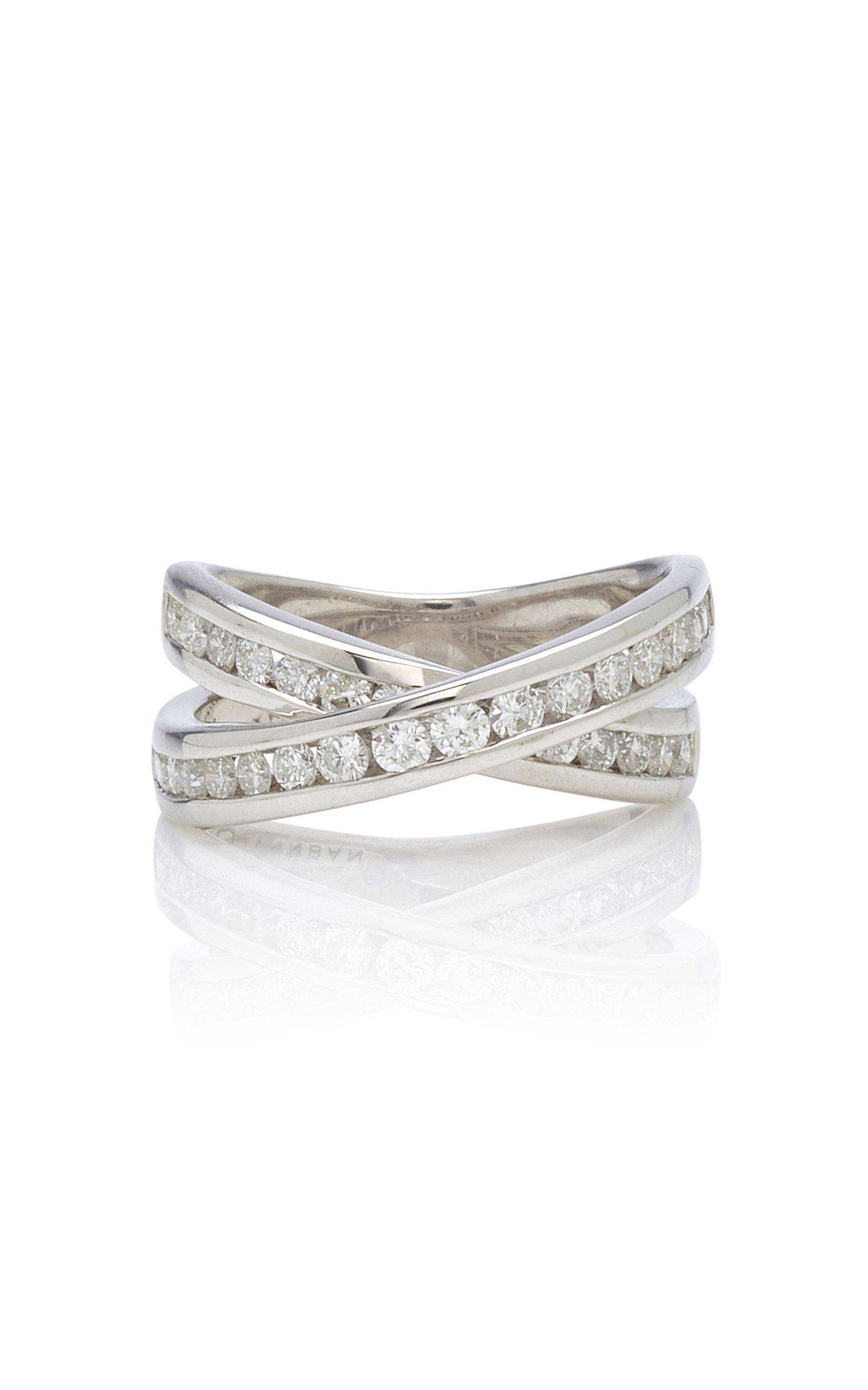 Women's Infinity Sterling Silver And Diamond Ring