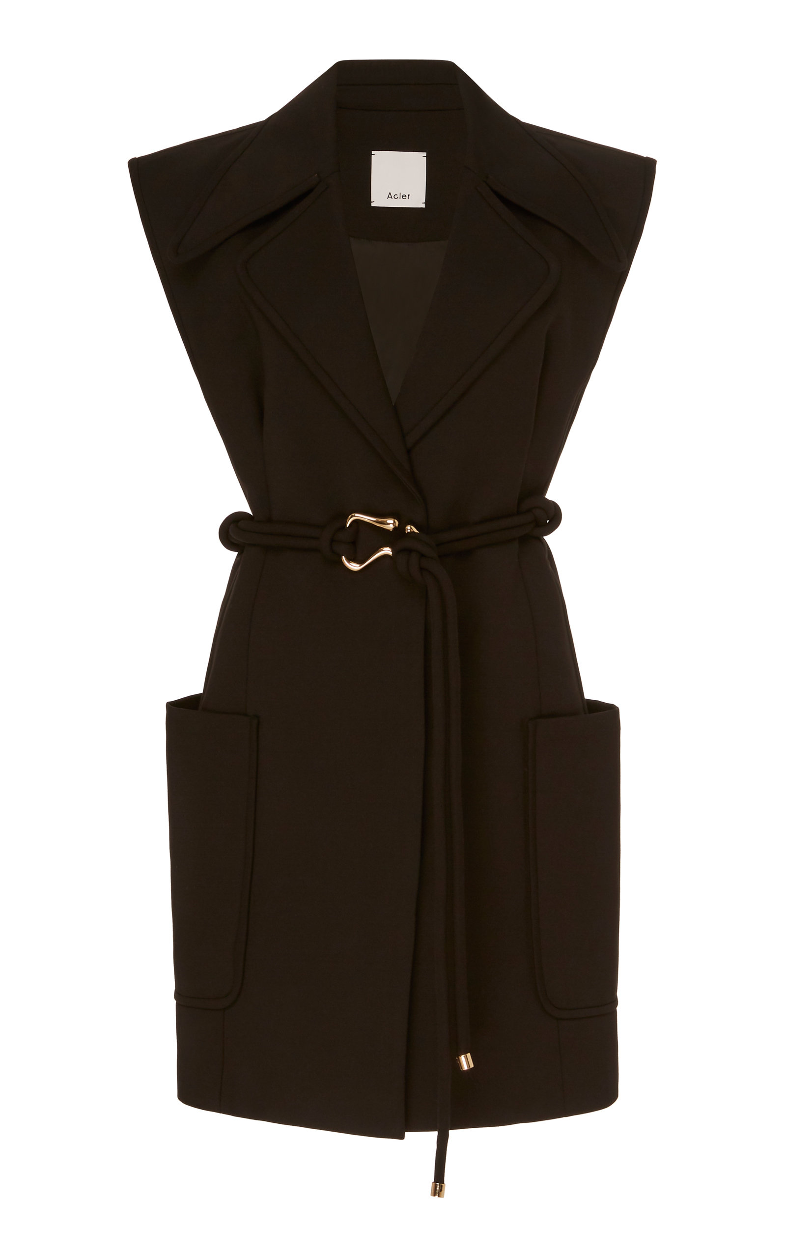Buy Acler Osman Belted Stretch-Cotton Dress online, shop Acler at the best price