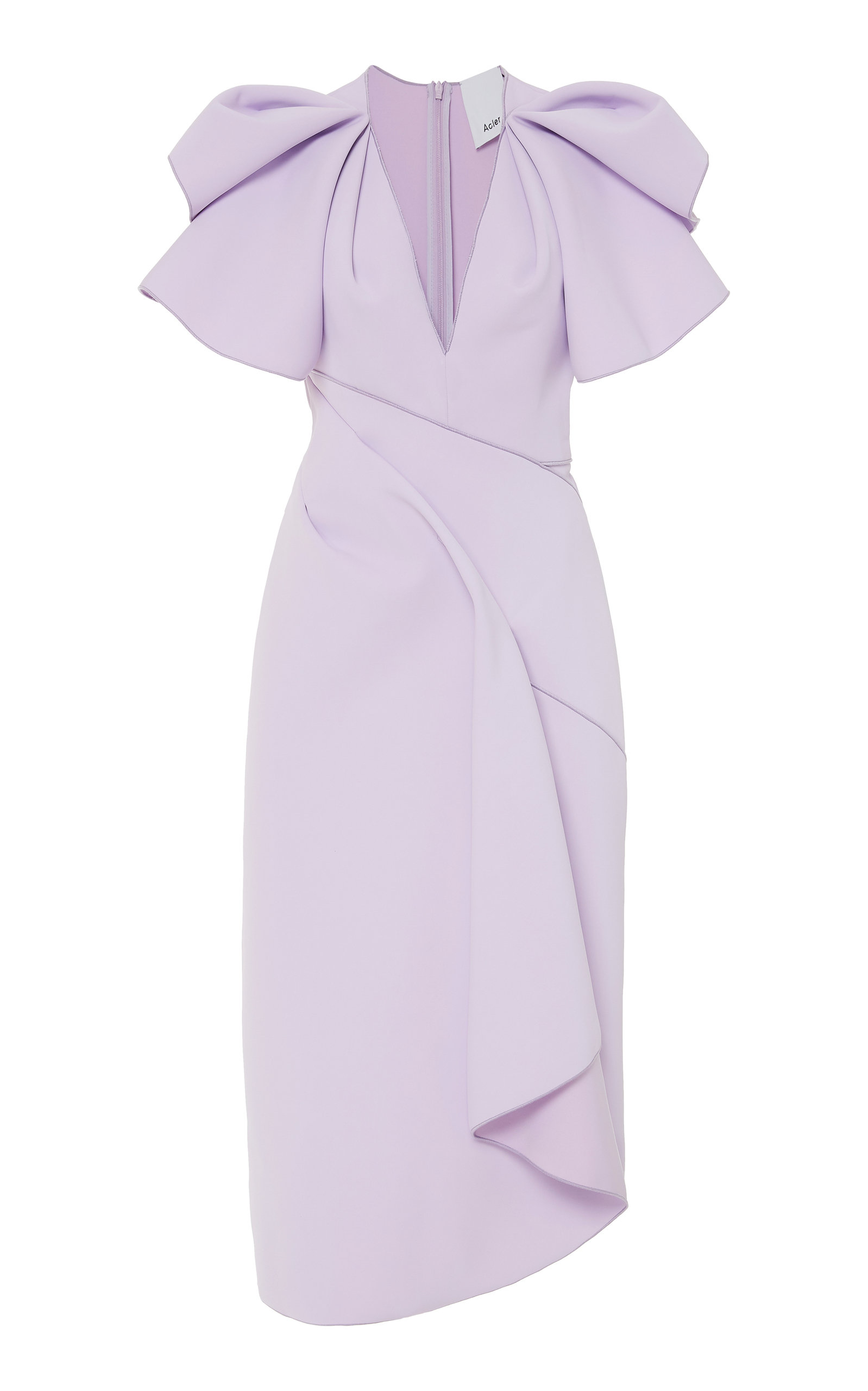 Buy Acler Redwood Draped Crepe Midi Dress online, shop Acler at the best price