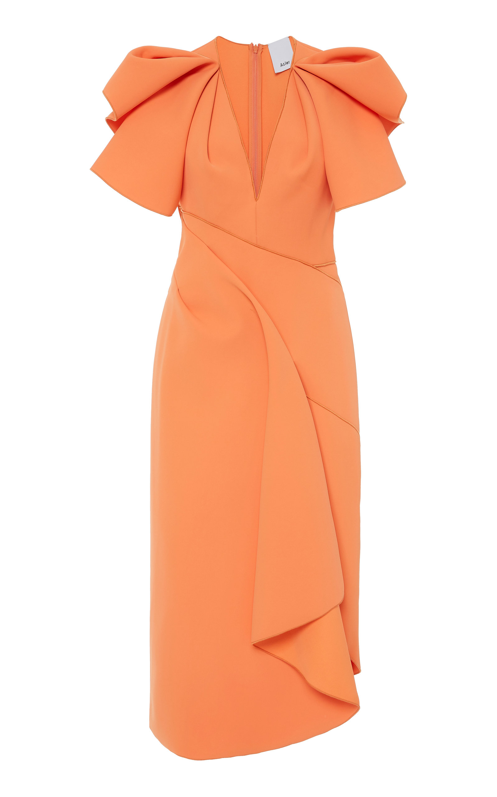 Buy Acler Redwood Gathered Midi Dress online, shop Acler at the best price
