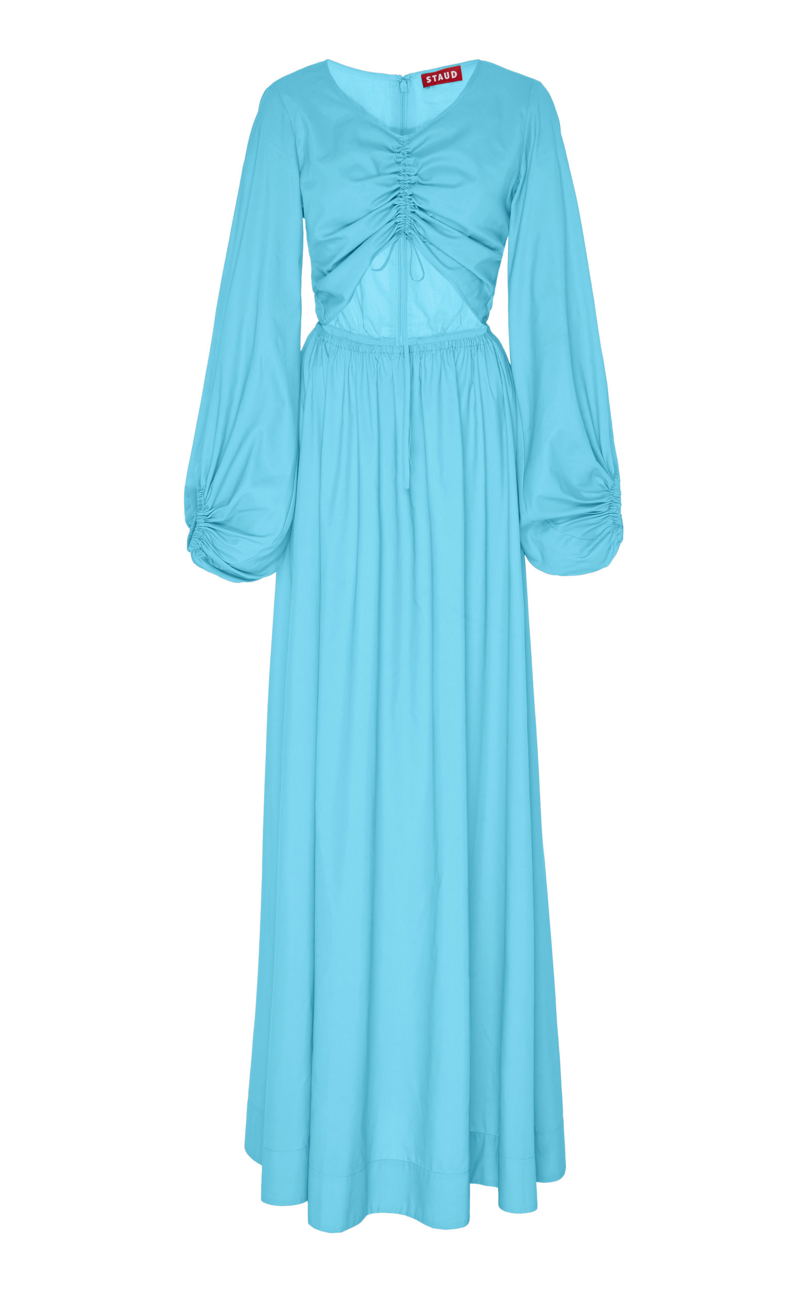 Buy Staud Tangier Cutout Broadcloth Maxi Dress online, shop Staud at the best price