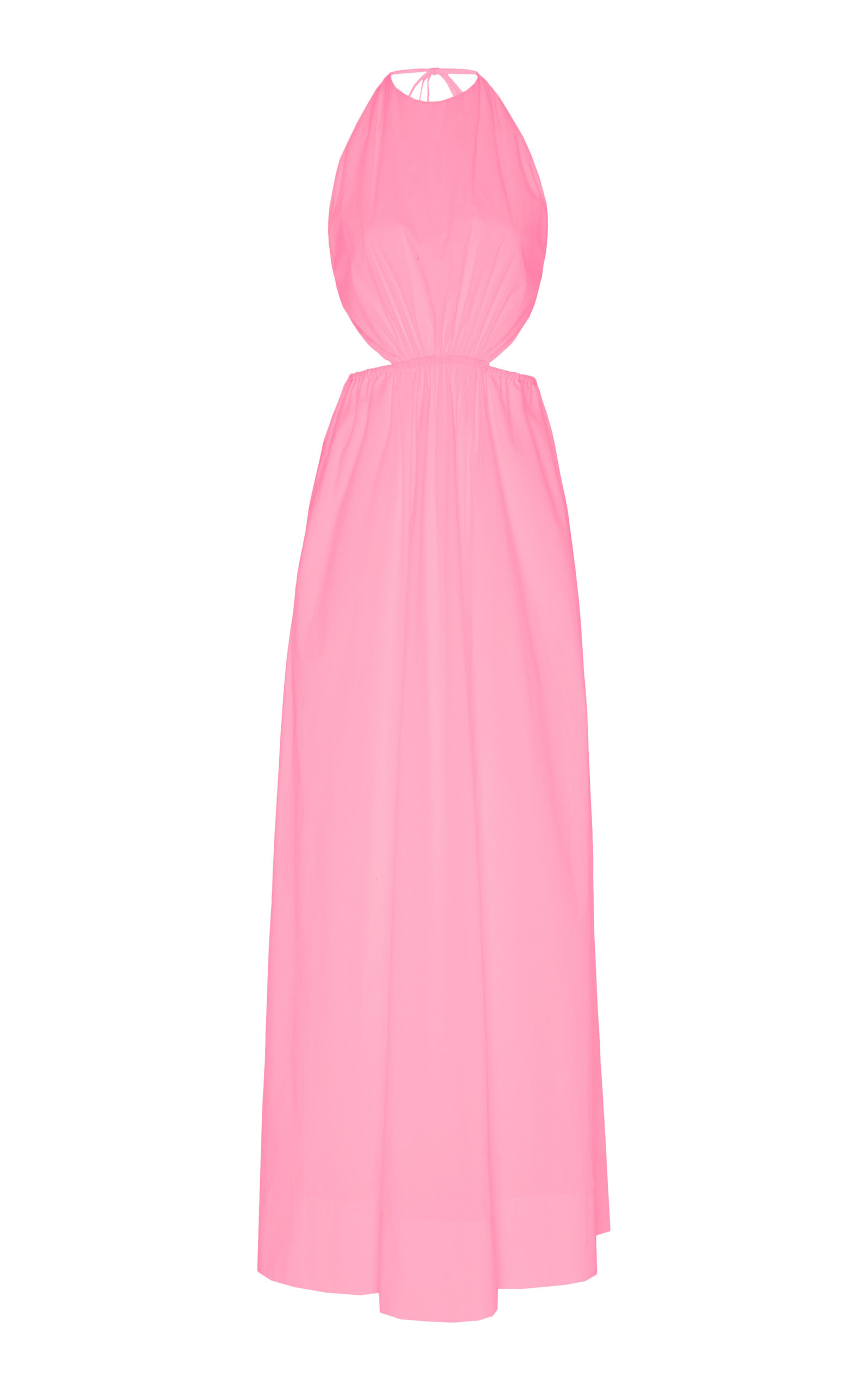 Buy Staud Apfel Cutout Cotton-Blend Maxi Dress online, shop Staud at the best price