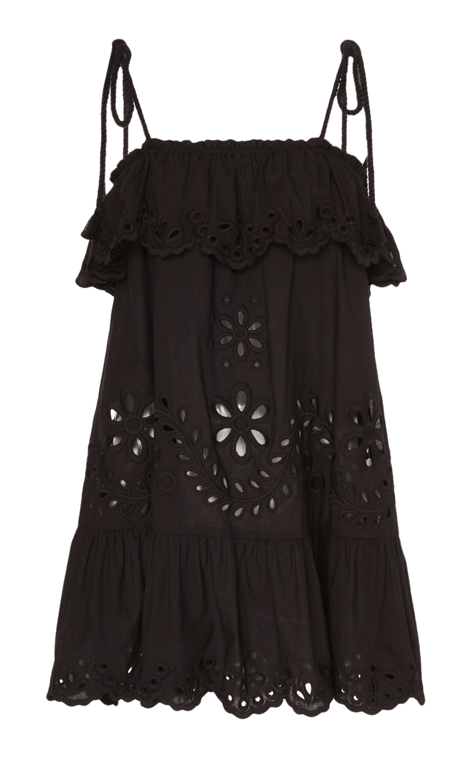 Buy Red Valentino Broderie Anglaise Cotton Poplin Mini Dress online, shop Red Valentino at the best price