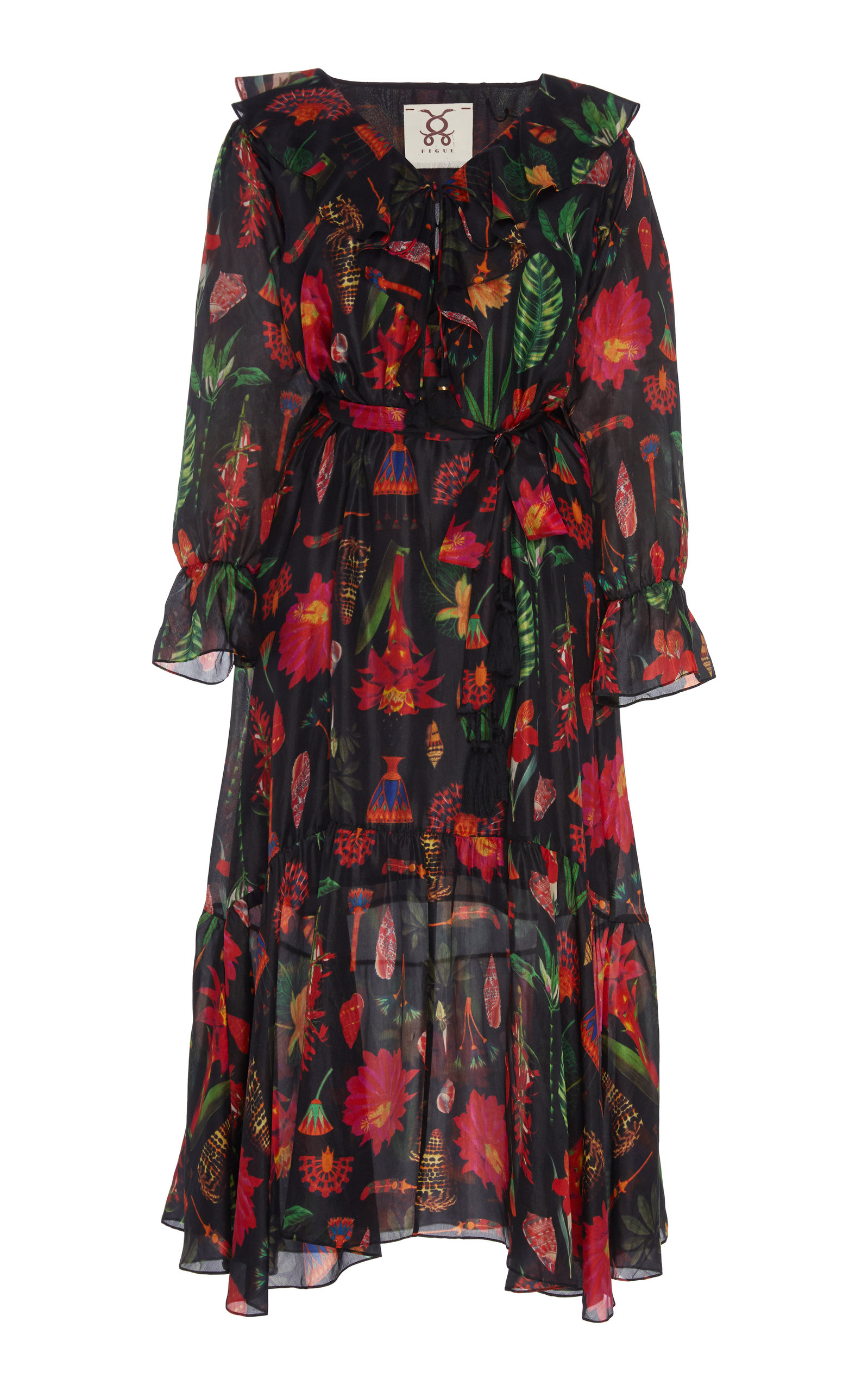 Buy Figue Nyla Silk Dress online, shop Figue at the best price
