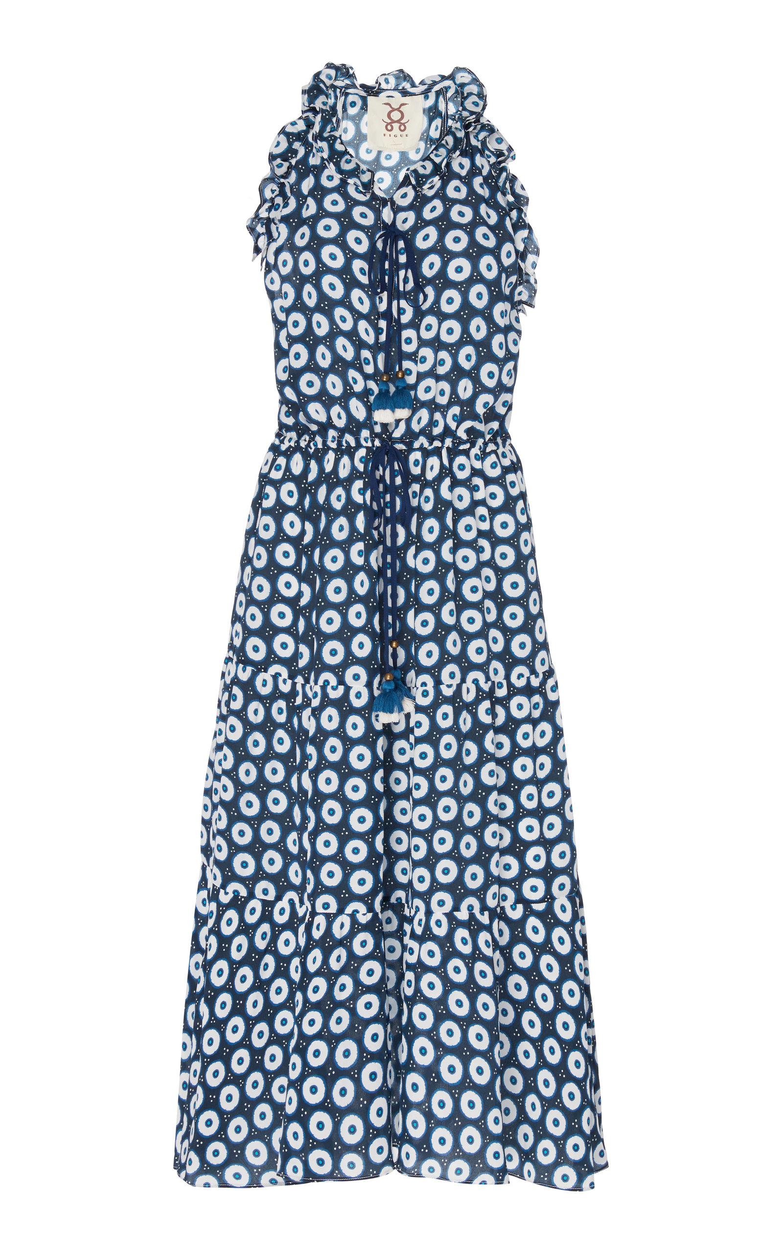 Buy Figue Gabriella Printed Silk-Georgette Midi Dress online, shop Figue at the best price