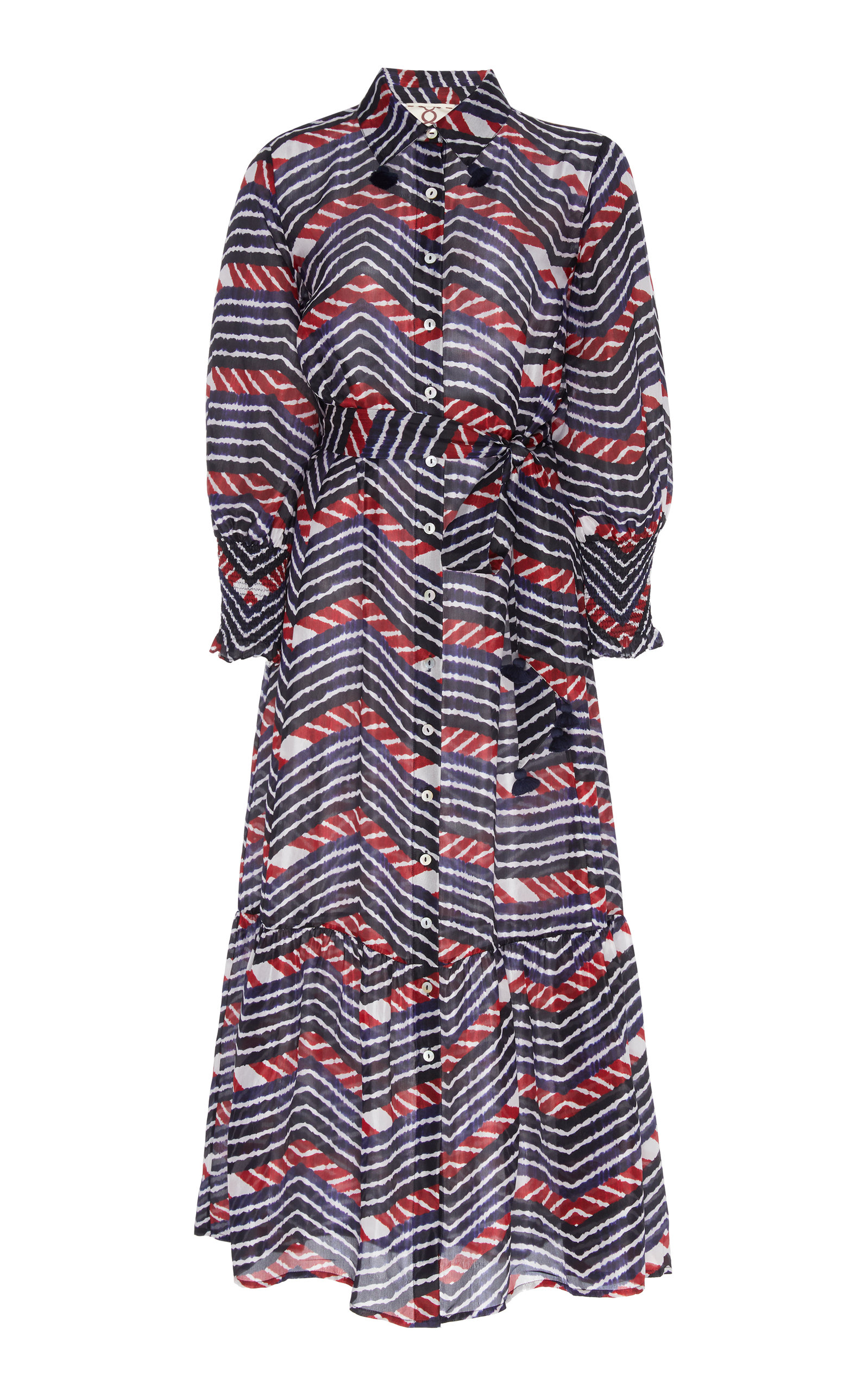 Buy Figue Indiana Printed Silk-Georgette Midi Dress online, shop Figue at the best price