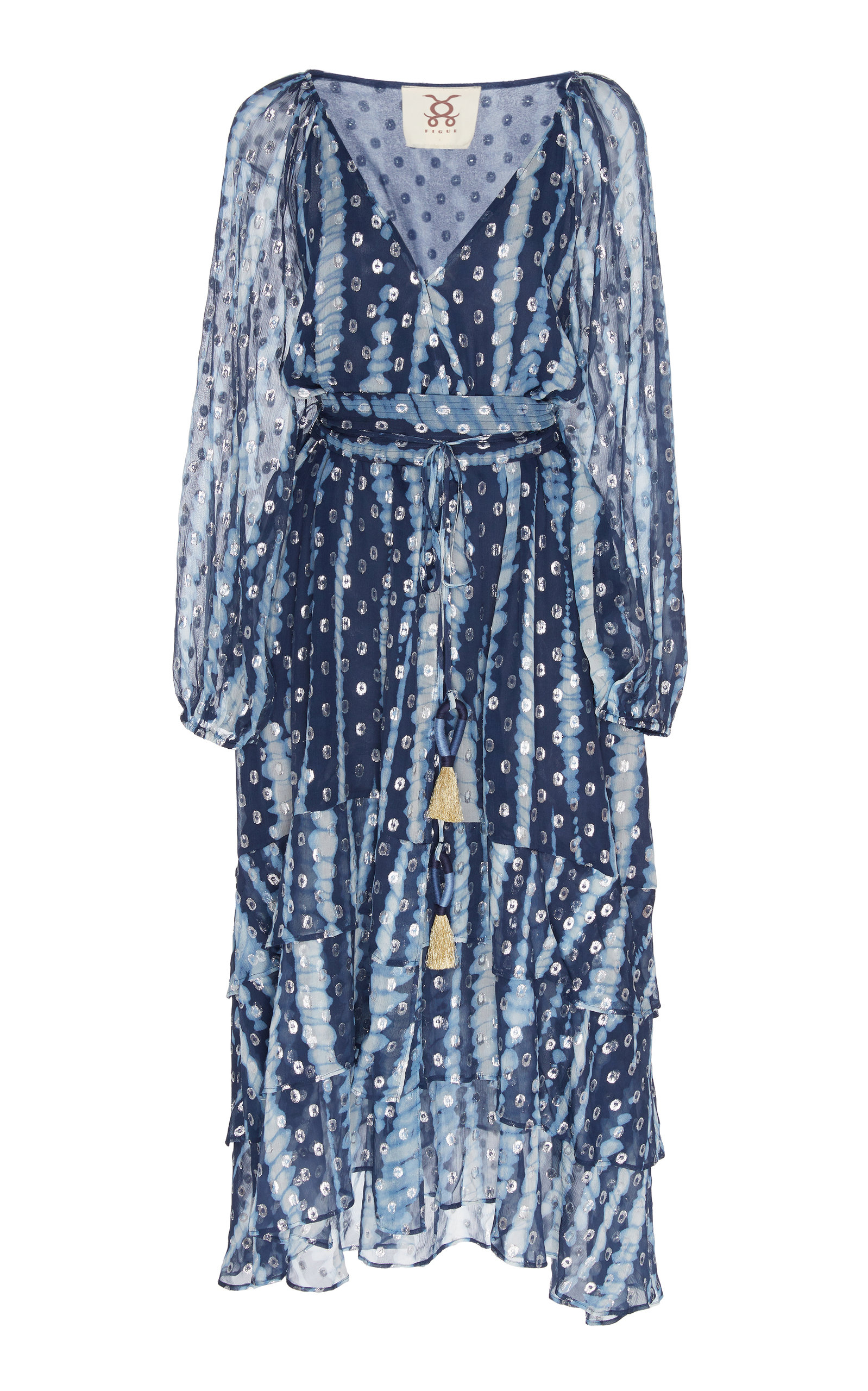 Buy Figue Frederica Silk Blend Dress online, shop Figue at the best price