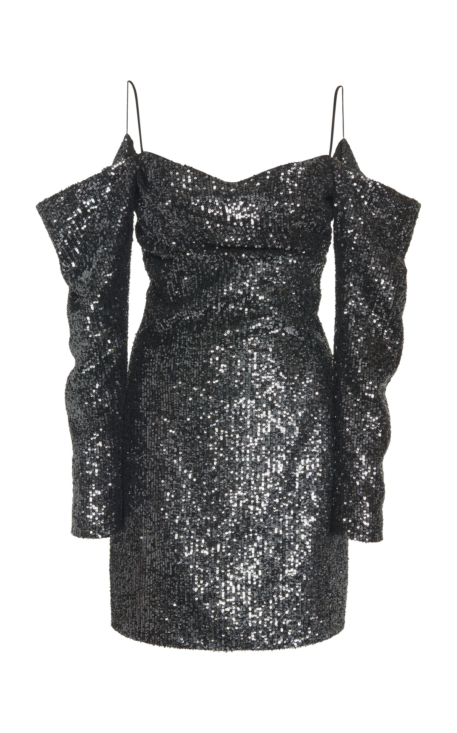 Buy Rasario Exclusive Off-The-Shoulder Sequined Georgette Mini Dress online, shop Rasario at the best price