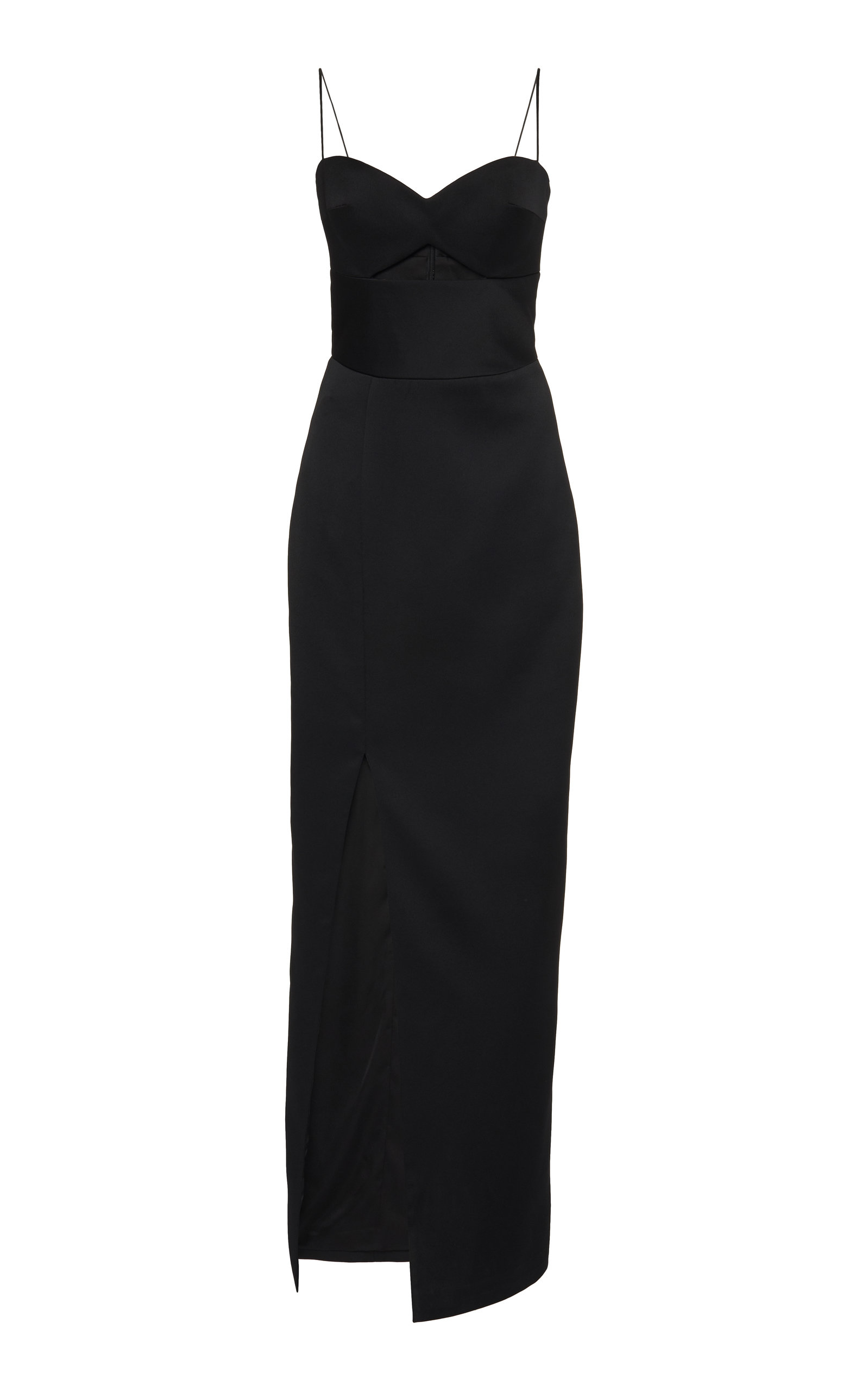 Buy Rasario Exclusive Cutout Satin Midi Dress online, shop Rasario at the best price