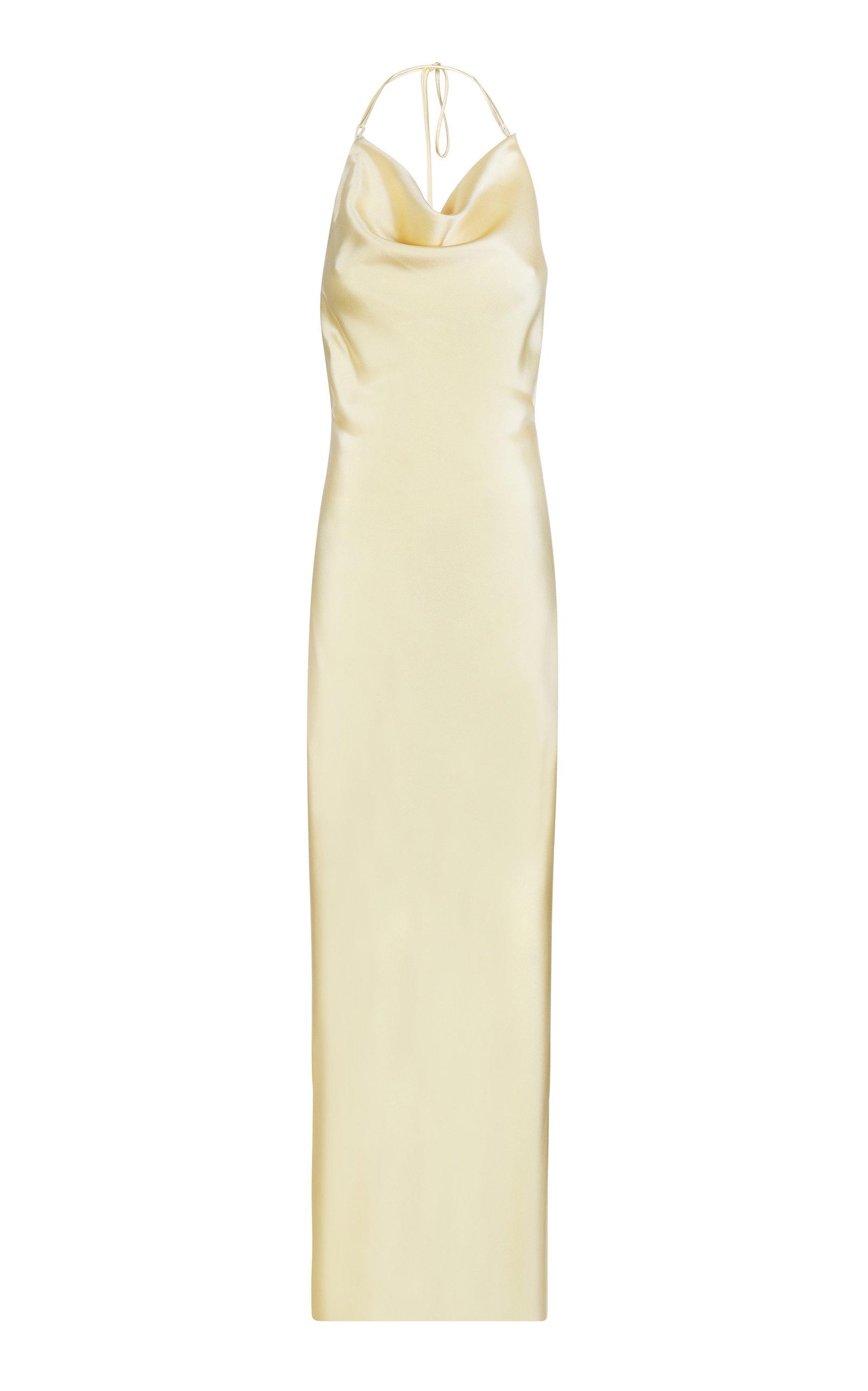 Buy BEVZA Satin Halterneck Spikelet Dress online, shop BEVZA at the best price