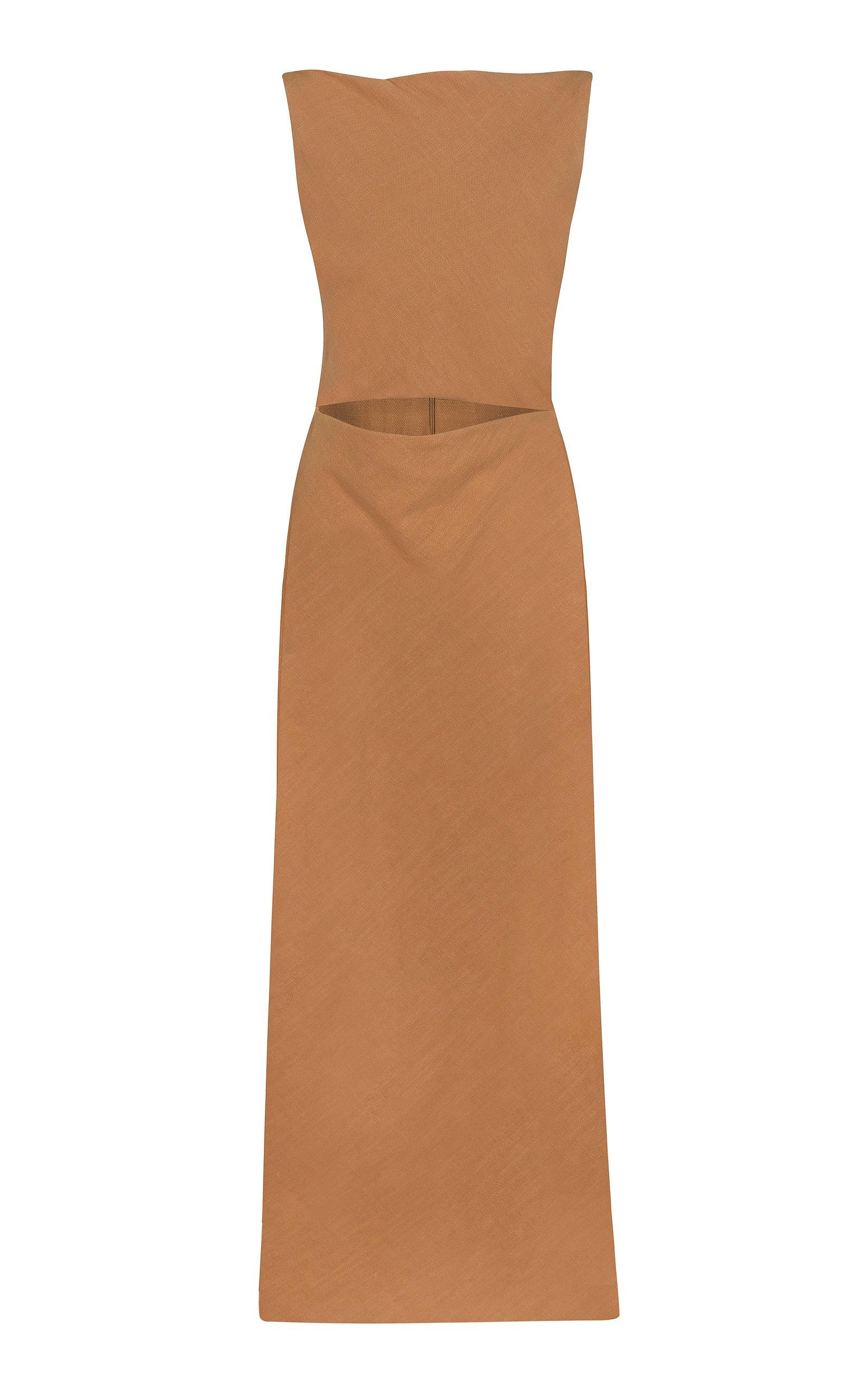 Buy BEVZA Sofia Linen Cutout Dress online, shop BEVZA at the best price