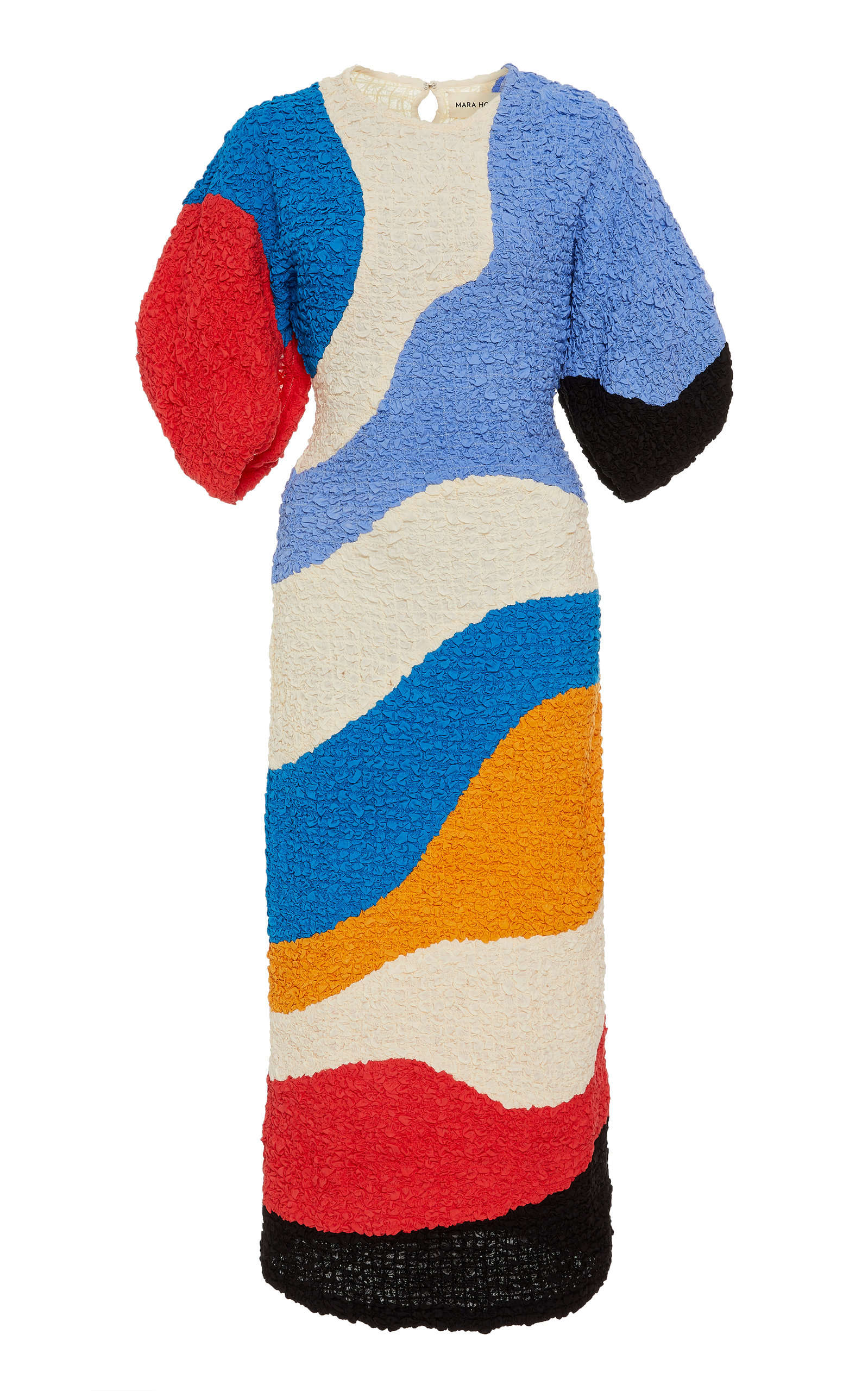 Buy Mara Hoffman Freya Color-Block Cloqué Midi Dress online, shop Mara Hoffman at the best price