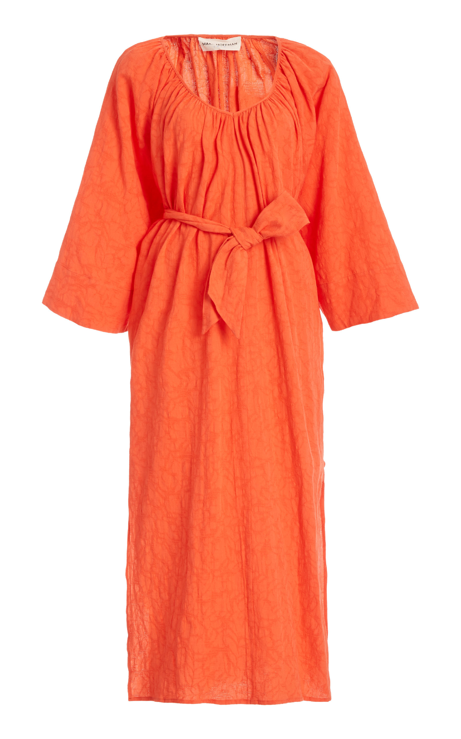 Buy Mara Hoffman Luz Belted Cotton and Linen-Blend Midi Dress online, shop Mara Hoffman at the best price