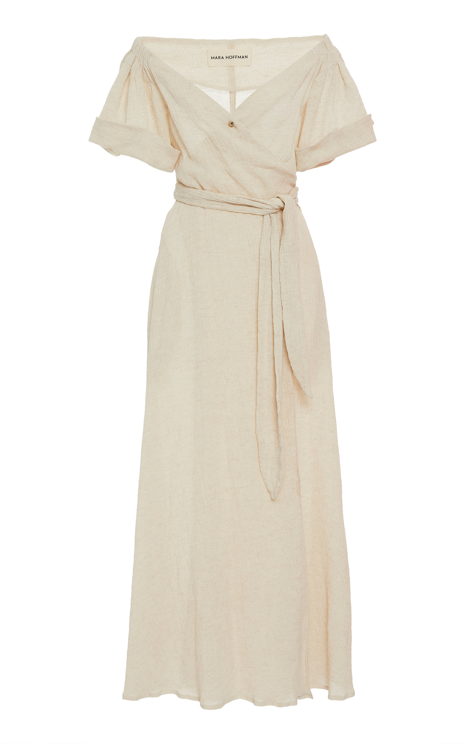 Buy Mara Hoffman Adelina Off-The-Shoulder Cotton-Blend Maxi Dress online, shop Mara Hoffman at the best price