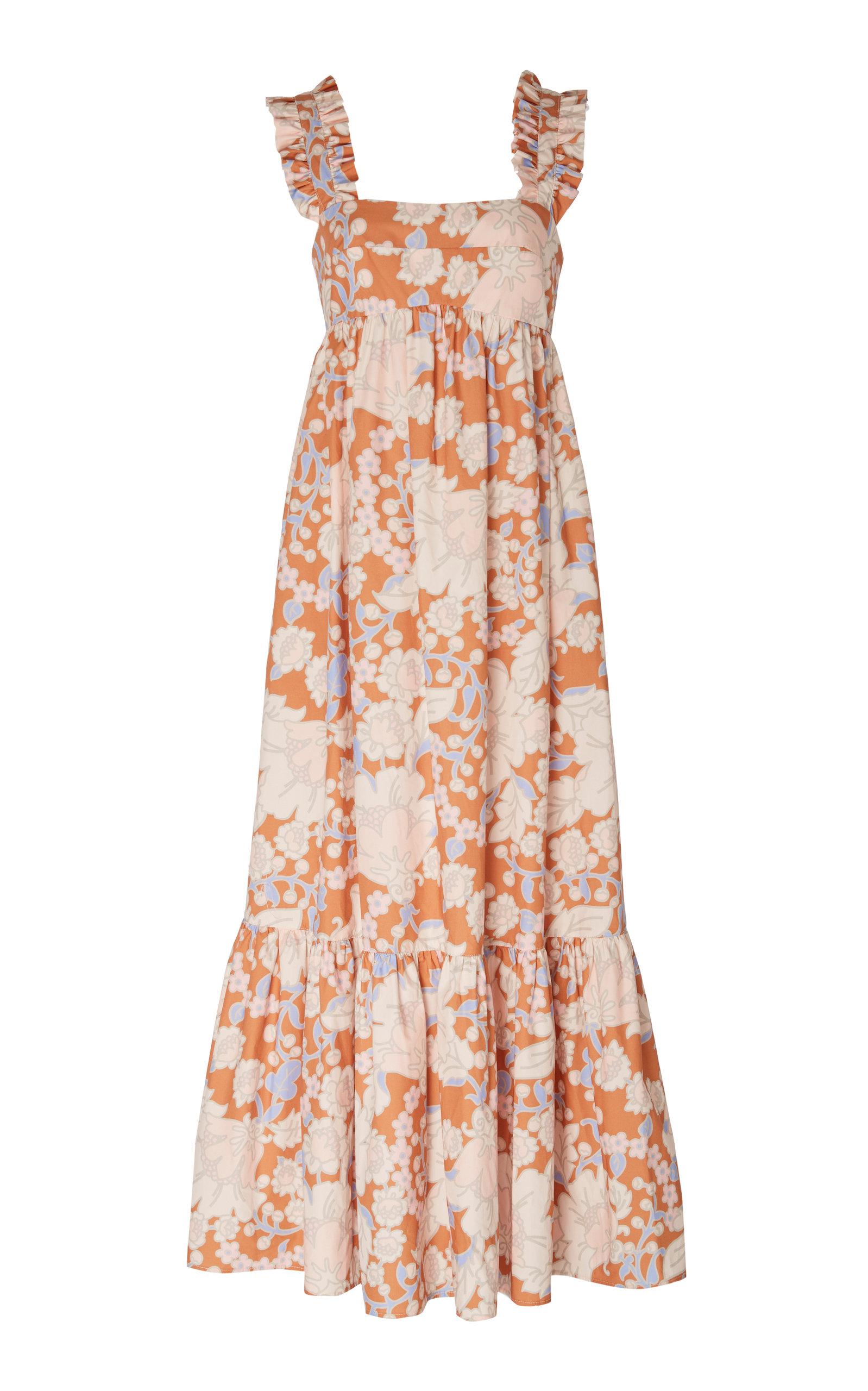 Buy Ephemera Woodstock Ruffled Floral-Print Linen Midi DRess online, shop Ephemera at the best price