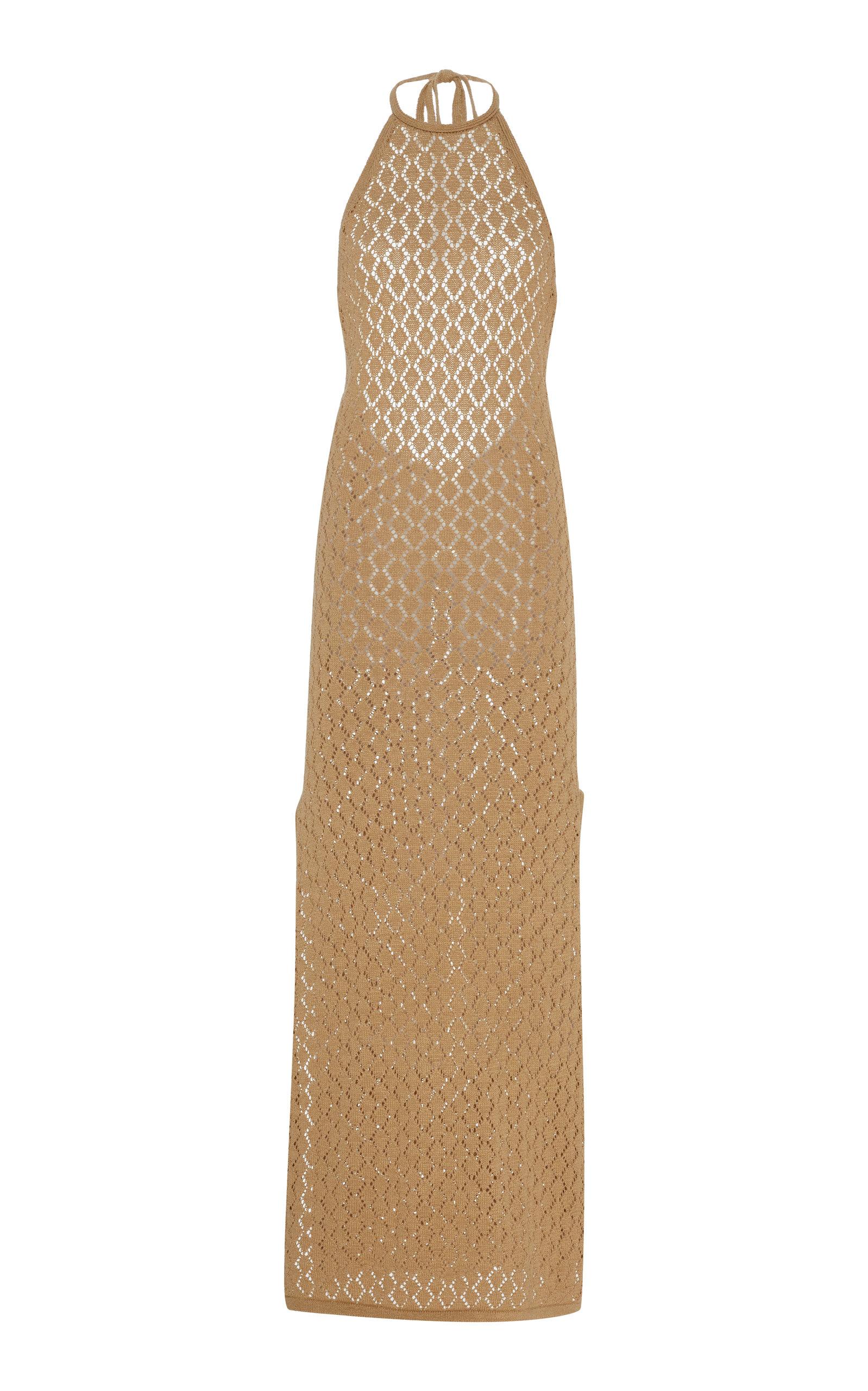 Buy Cult Gaia Karen Cotton-Blend Pointelle-Knit Midi Dress online, shop Cult Gaia at the best price