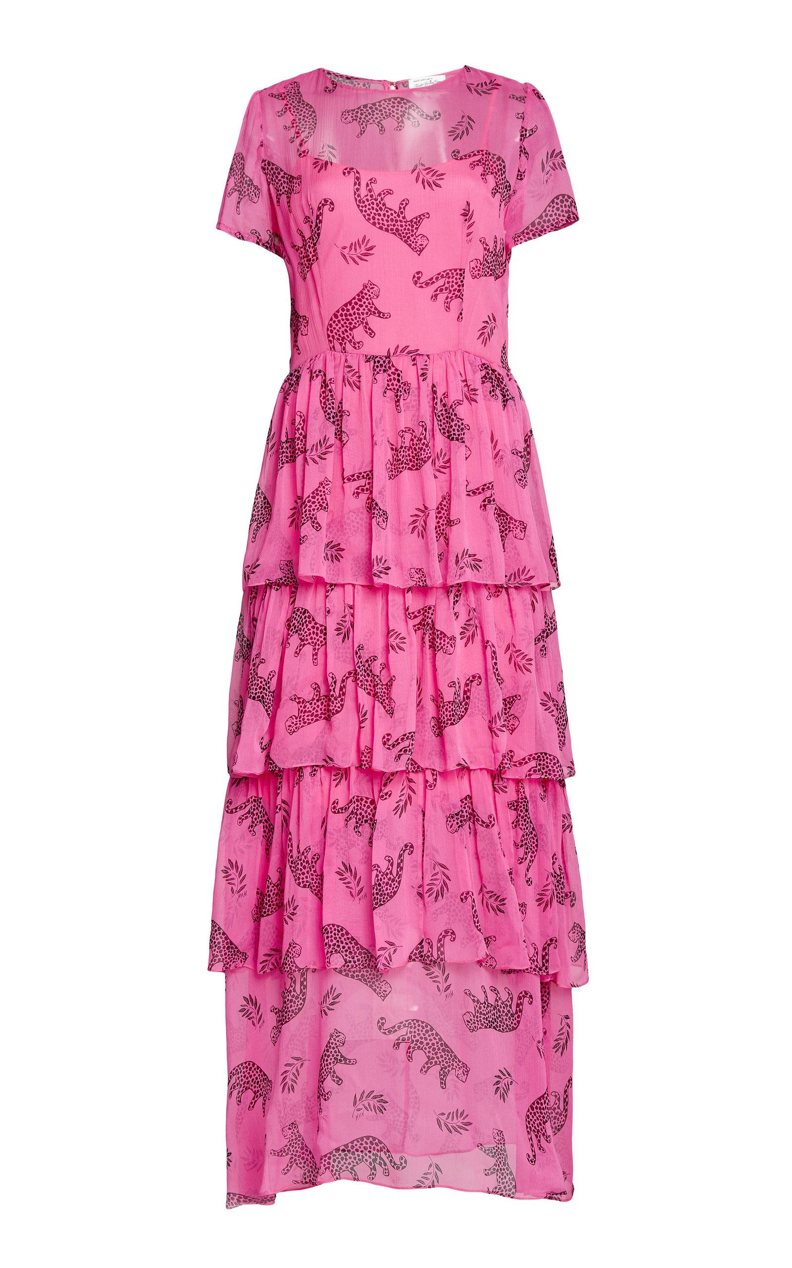 Buy HVN Brynn Tiered Silk Chiffon Dress online, shop HVN at the best price