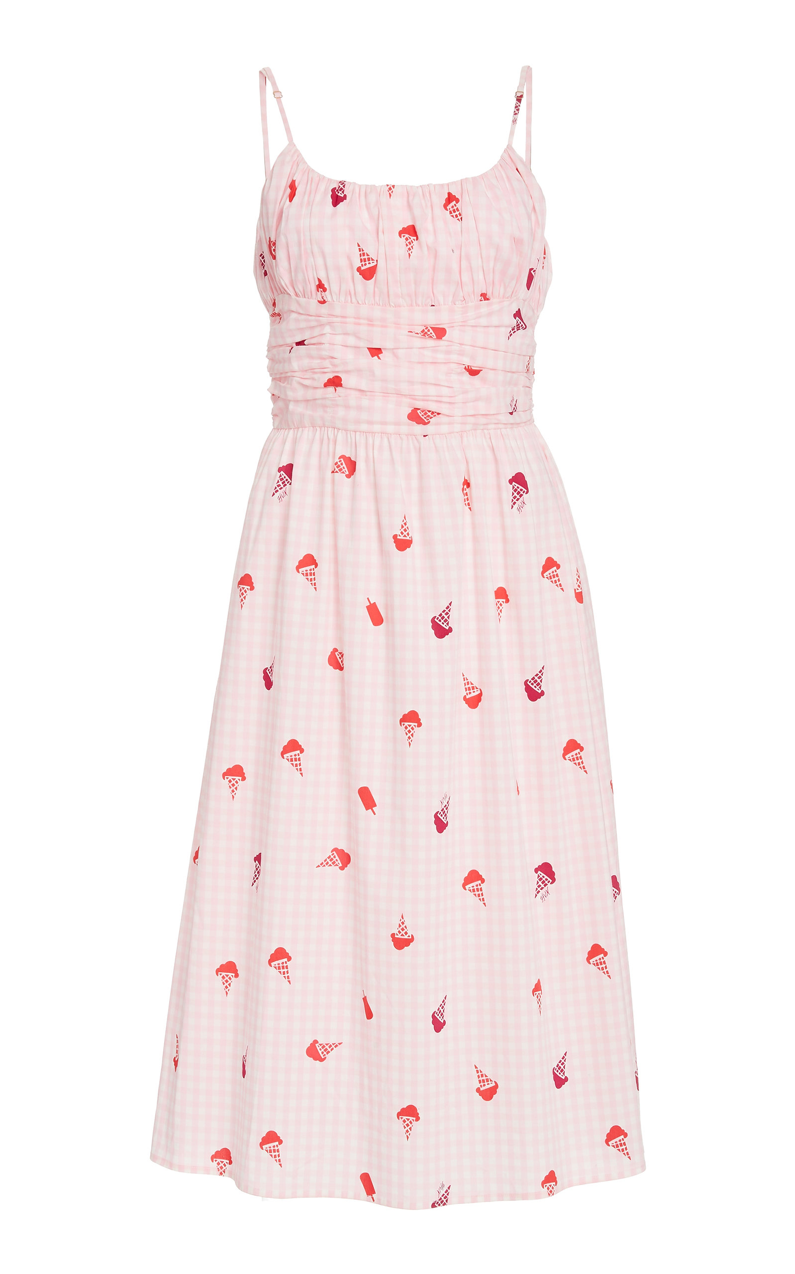 Buy HVN Lucy Smocked Cotton Dress online, shop HVN at the best price