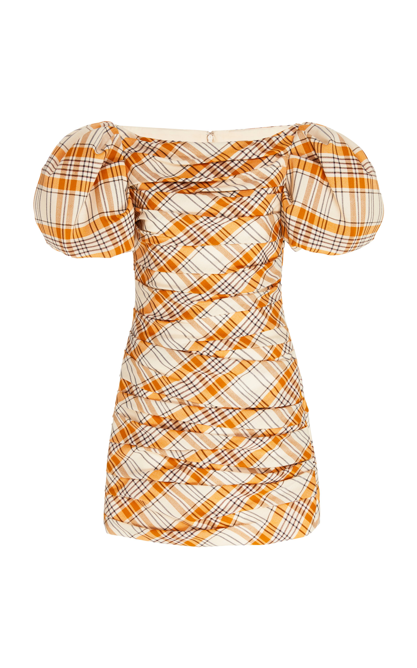 Buy Khaite Shelly Puffed Sleeve Cotton Dress online, shop Khaite at the best price