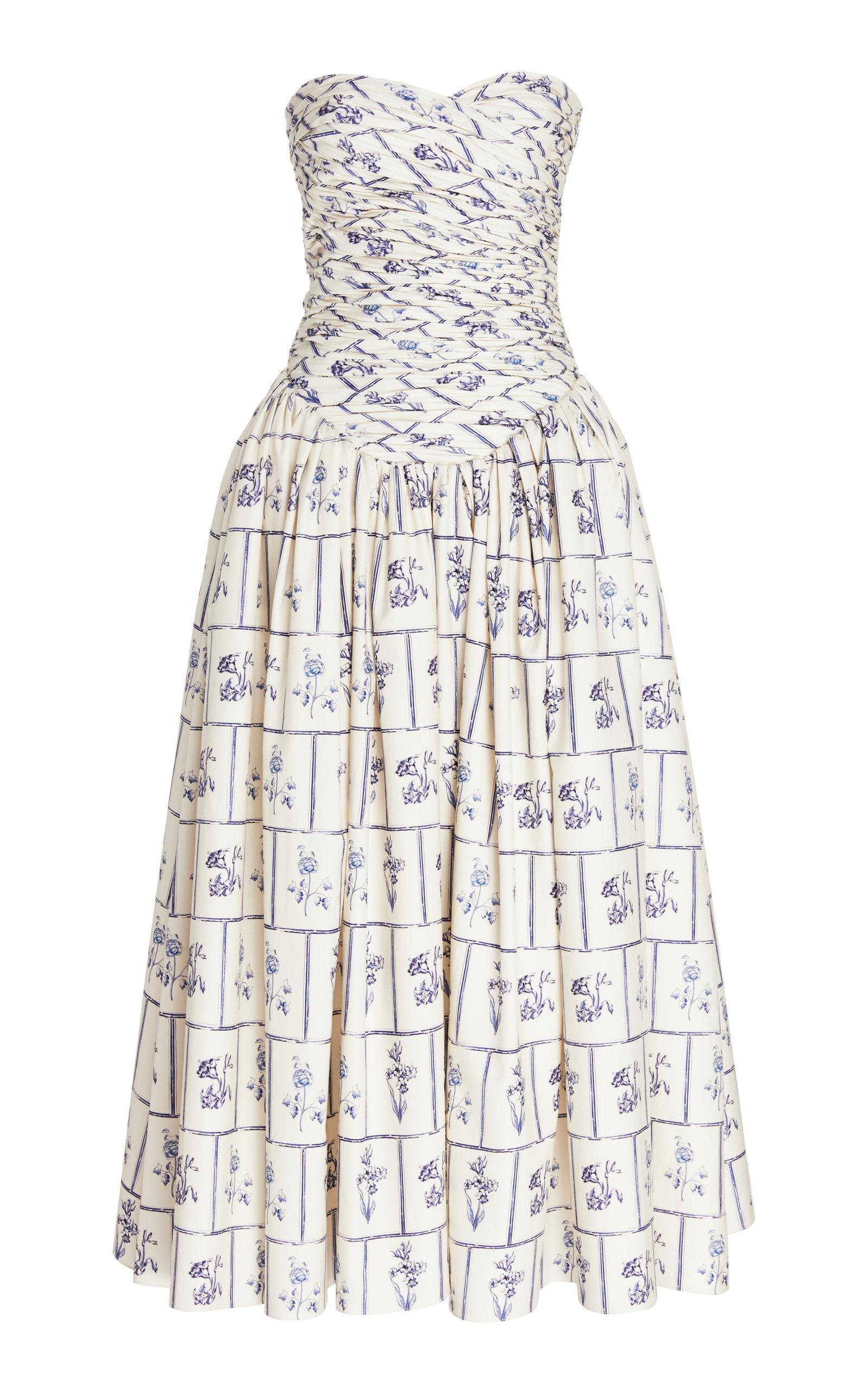 Buy Khaite Cleo Strapless Cotton Dress online, shop Khaite at the best price