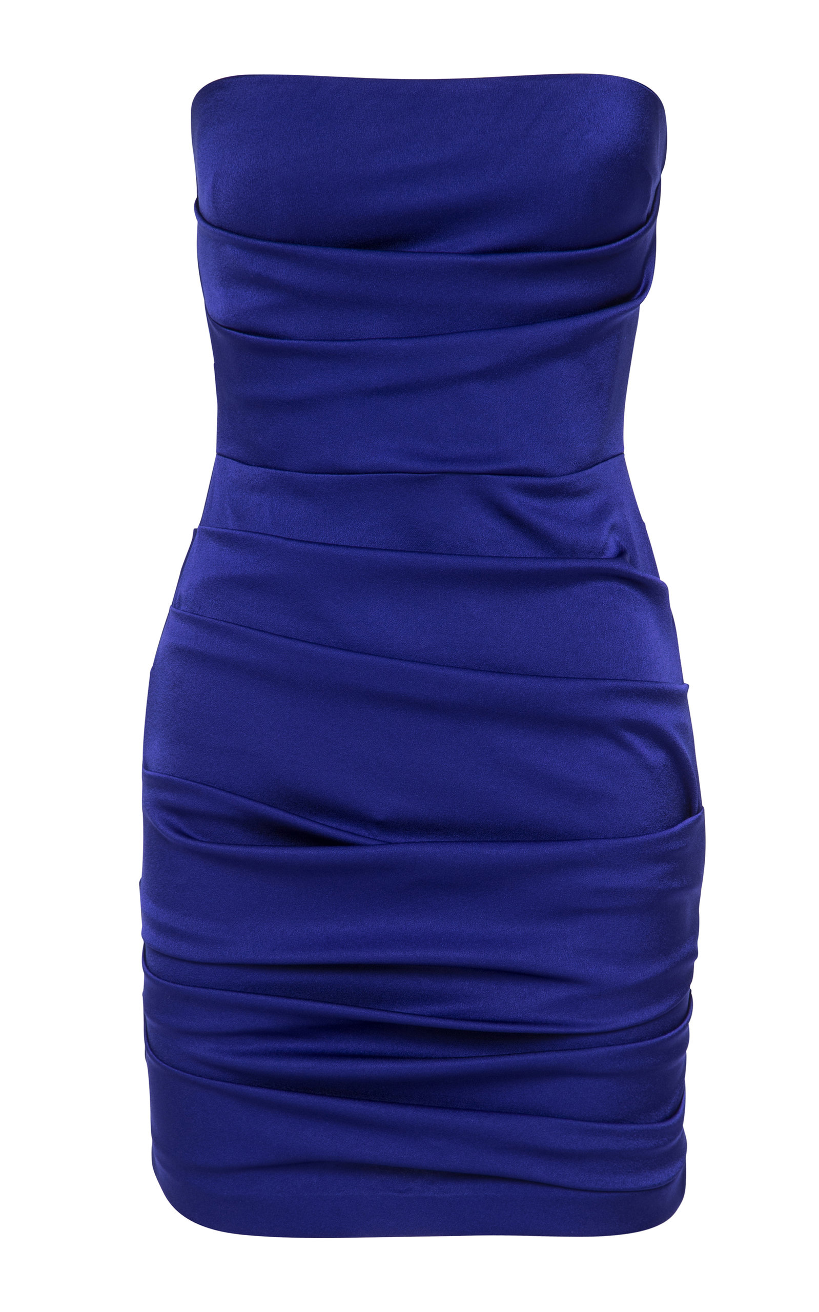 Buy Alex Perry Strapless Ruched Satin Mini Dress online, shop Alex Perry at the best price