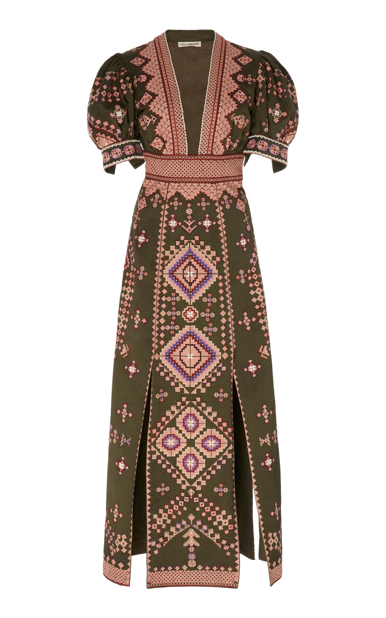 Buy Ulla Johnson Amaria Cotton Dress online, shop Ulla Johnson at the best price