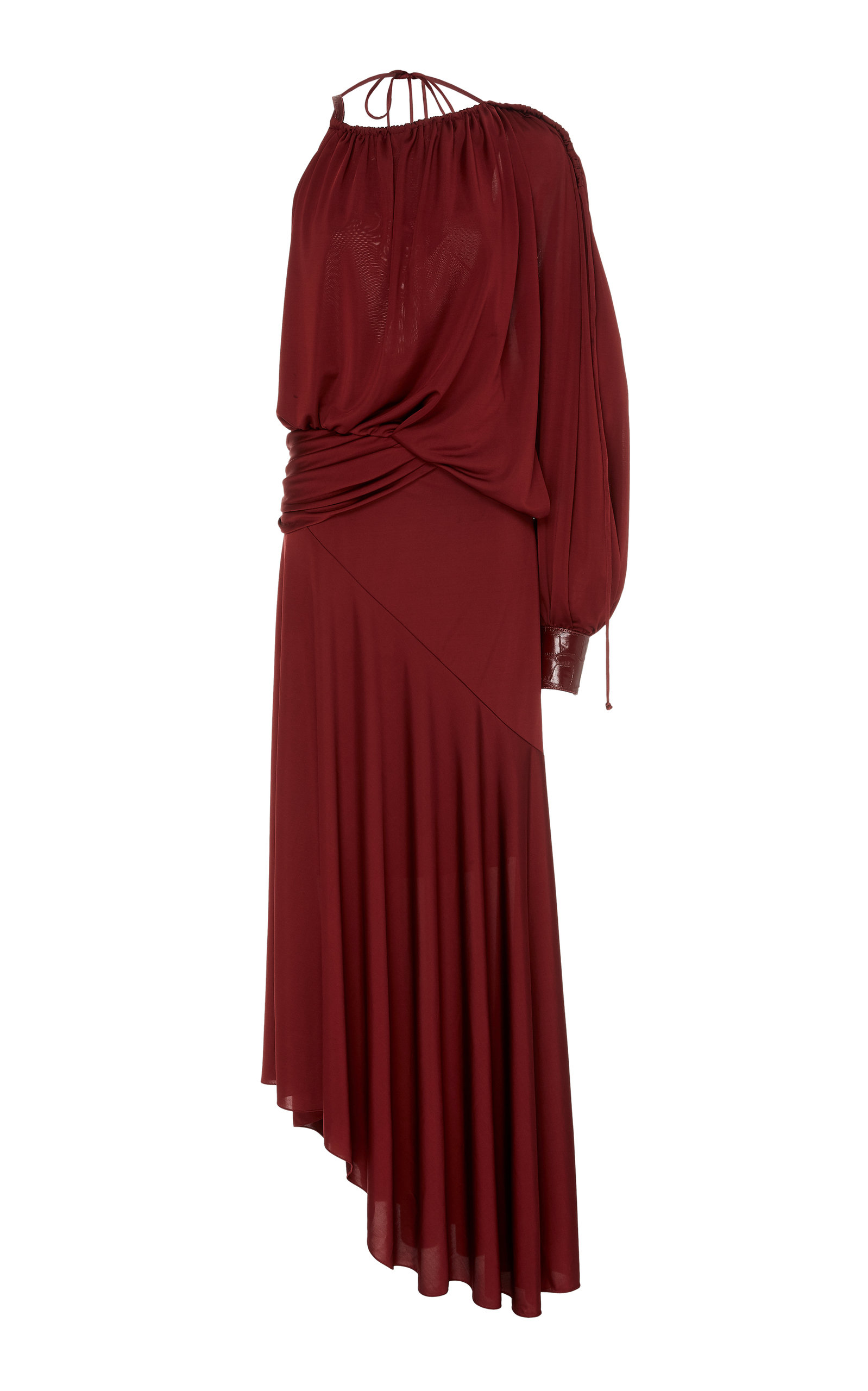 Buy Sies Marjan Gia Asymmetric Stretch-Jersey Maxi Dress online, shop Sies Marjan at the best price