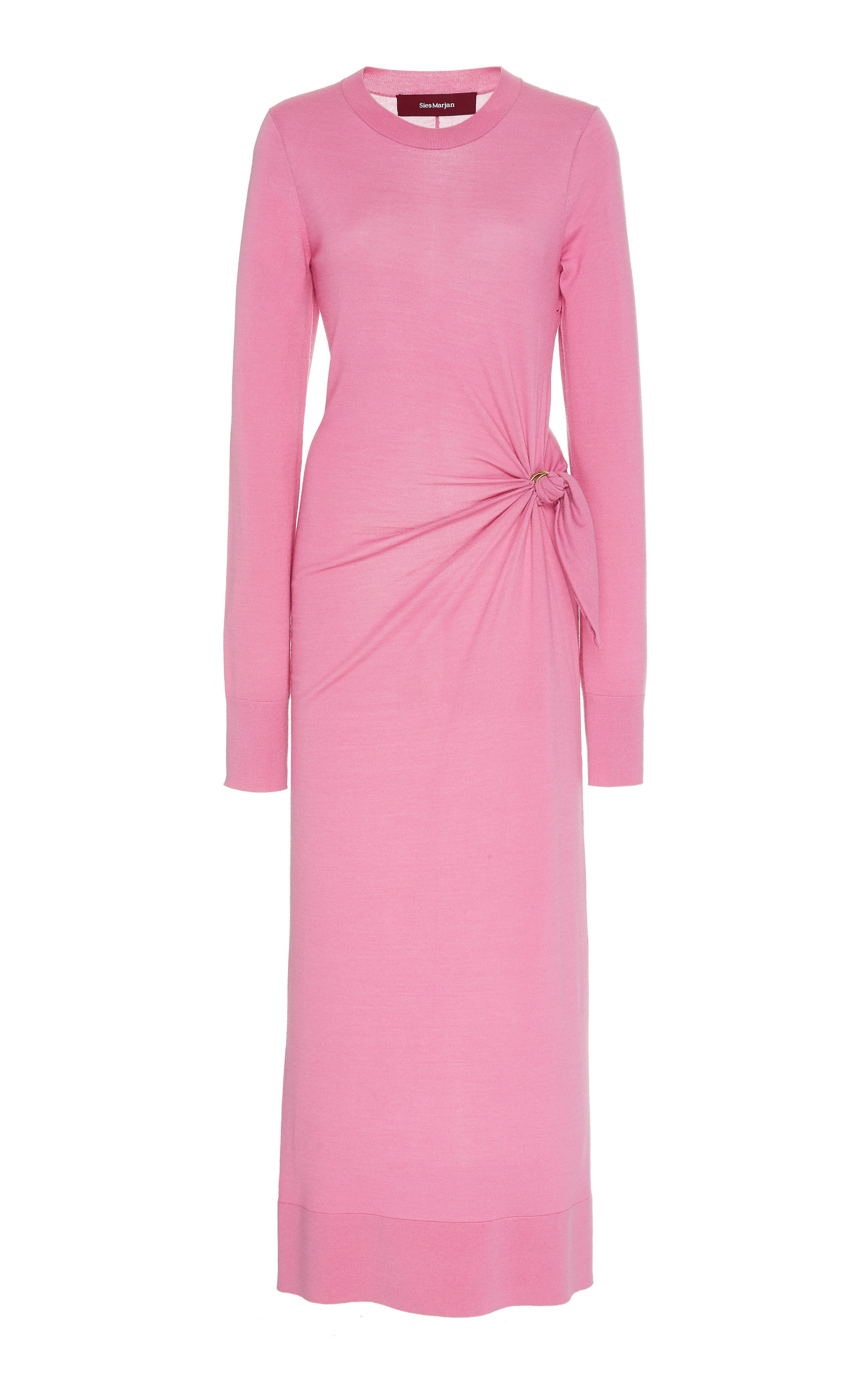 Buy Sies Marjan Selma Knotted Wool Midi Dress online, shop Sies Marjan at the best price