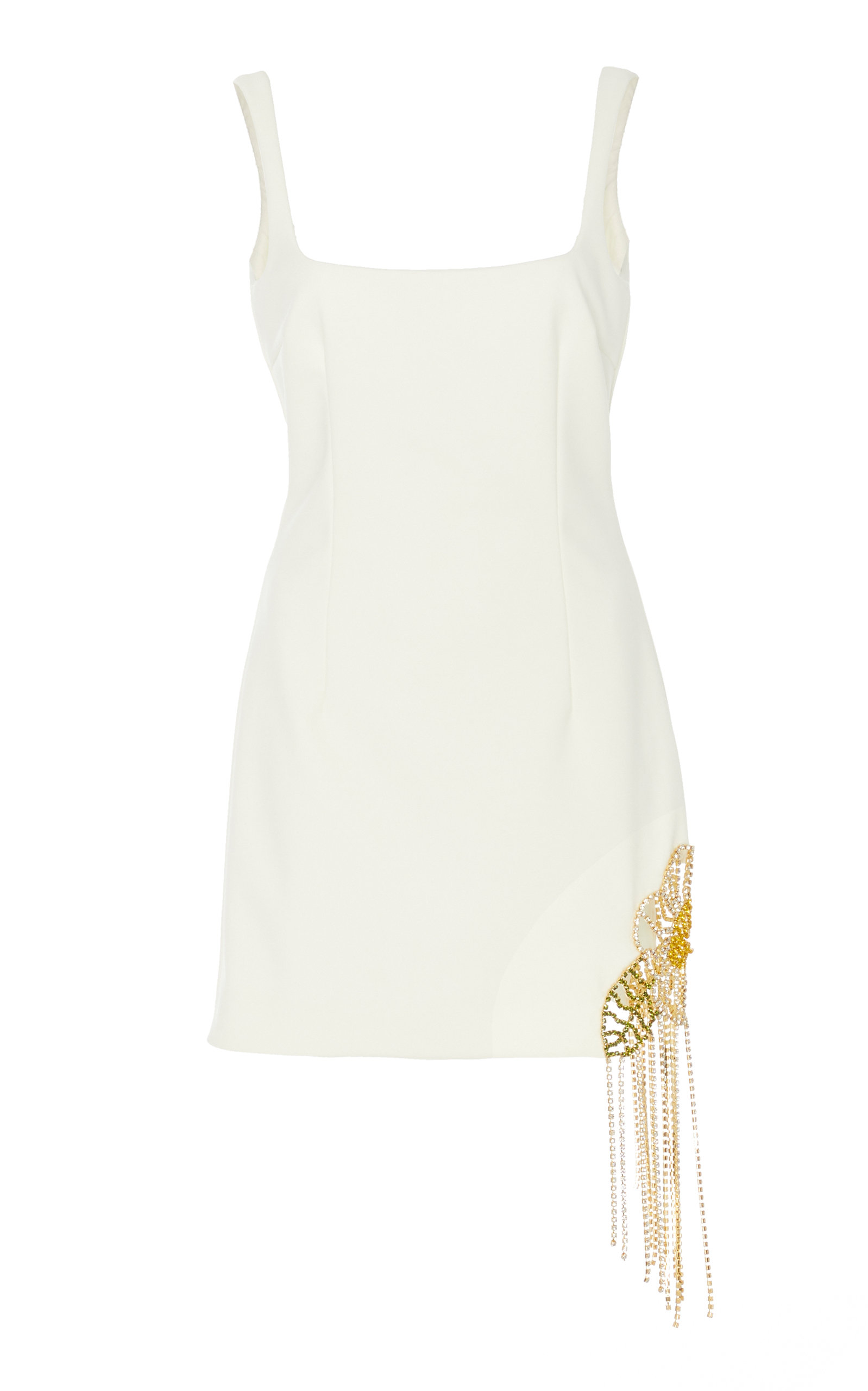 Buy Area Crystal Embellished Crepe Mini Dress online, shop Area at the best price