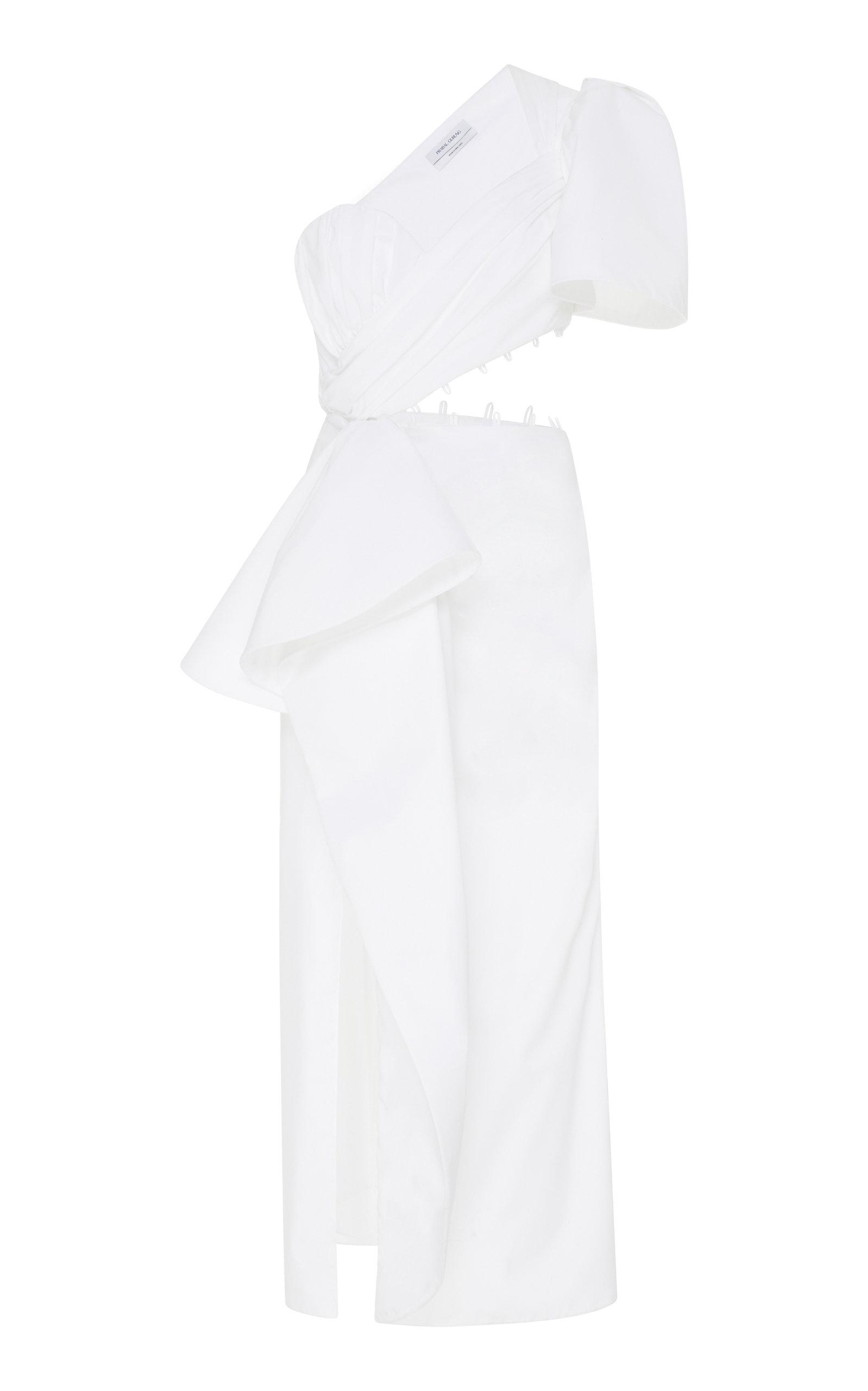 Buy Prabal Gurung One-Shoulder Cotton-Blend Cutout Dress online, shop Prabal Gurung at the best price
