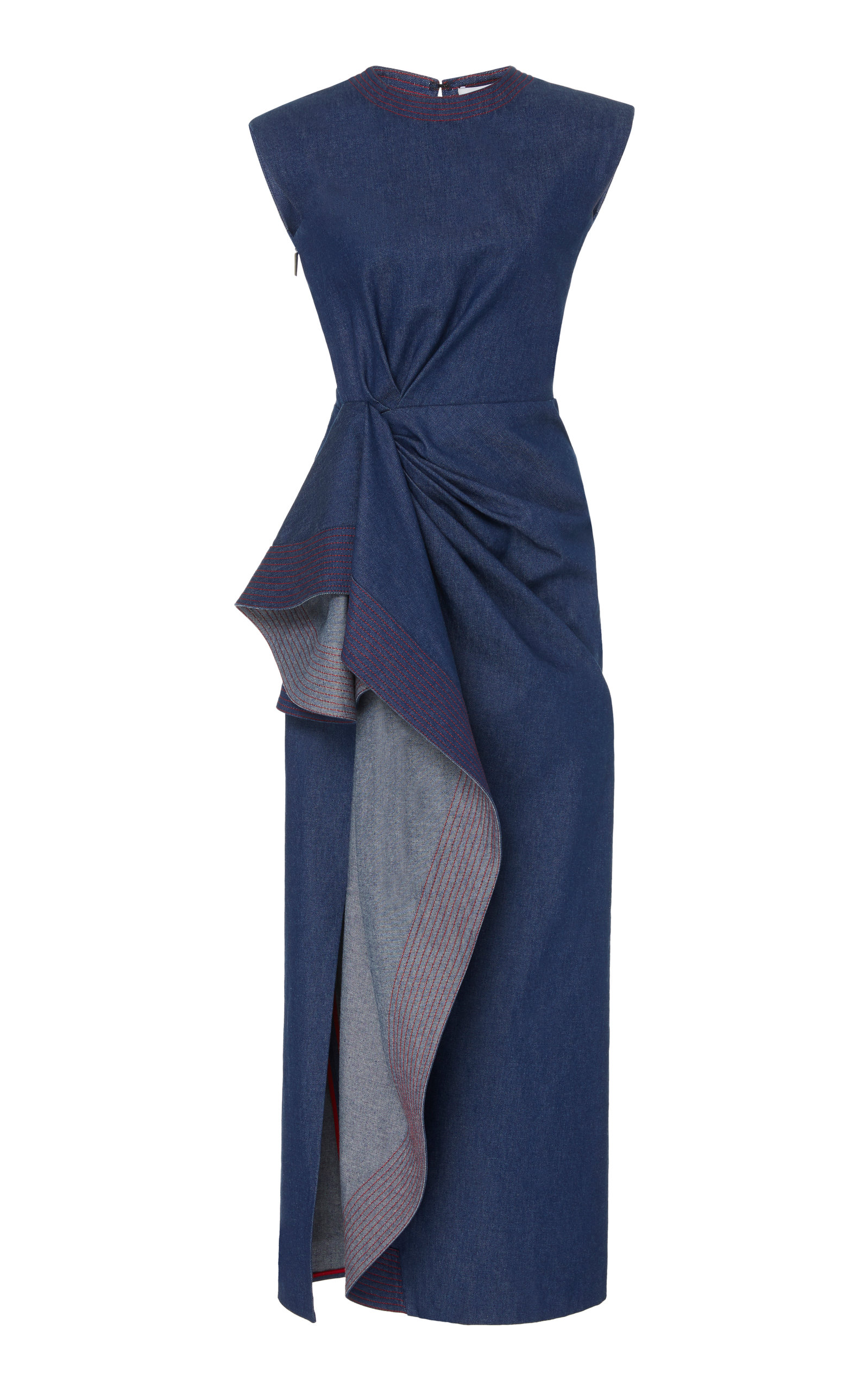 Buy Prabal Gurung Asymmetric Draped Cotton Maxi Dress online, shop Prabal Gurung at the best price