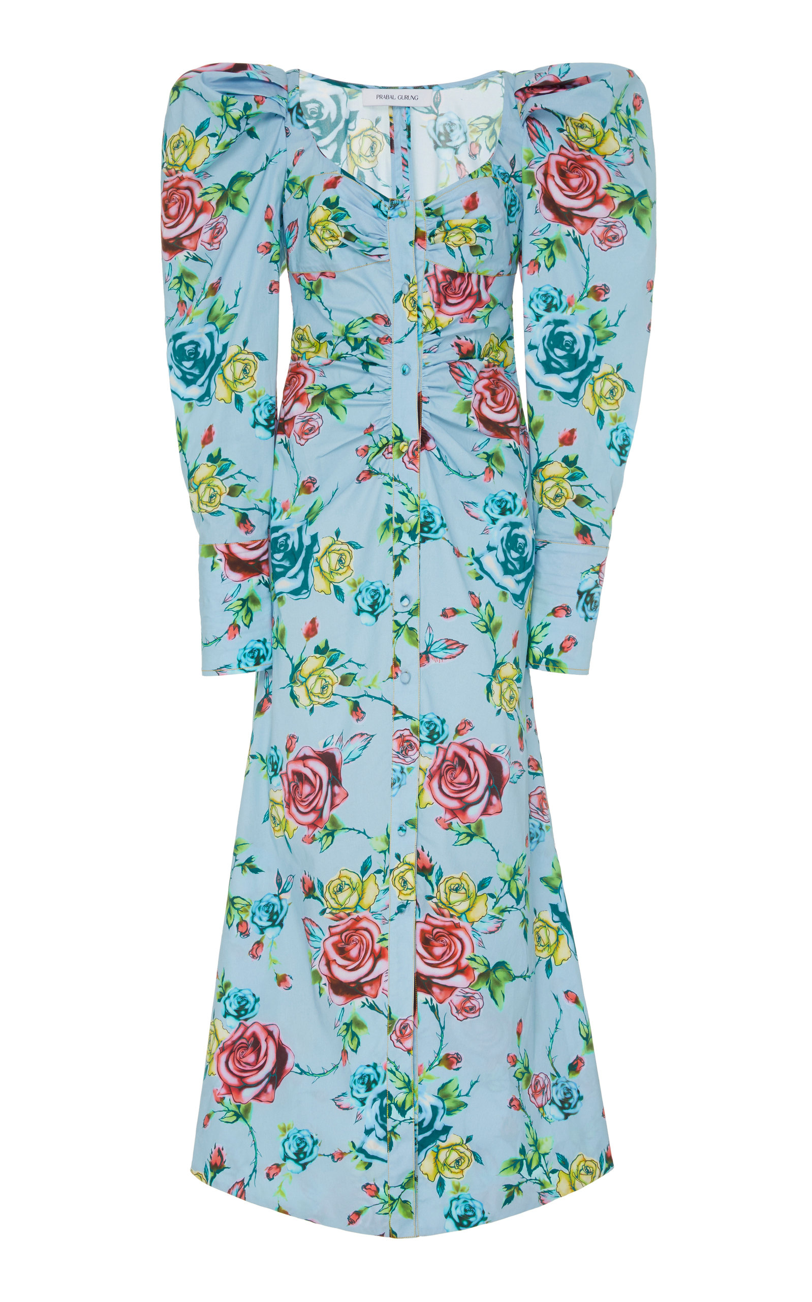 Buy Prabal Gurung Floral-Print Cotton-Blend Shirt Dress online, shop Prabal Gurung at the best price