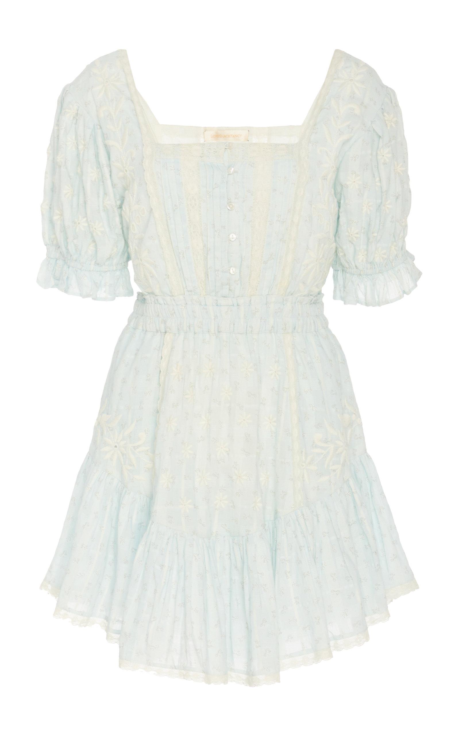 Buy LoveShackFancy Tomasina Cotton Mini Dress online, shop LoveShackFancy at the best price