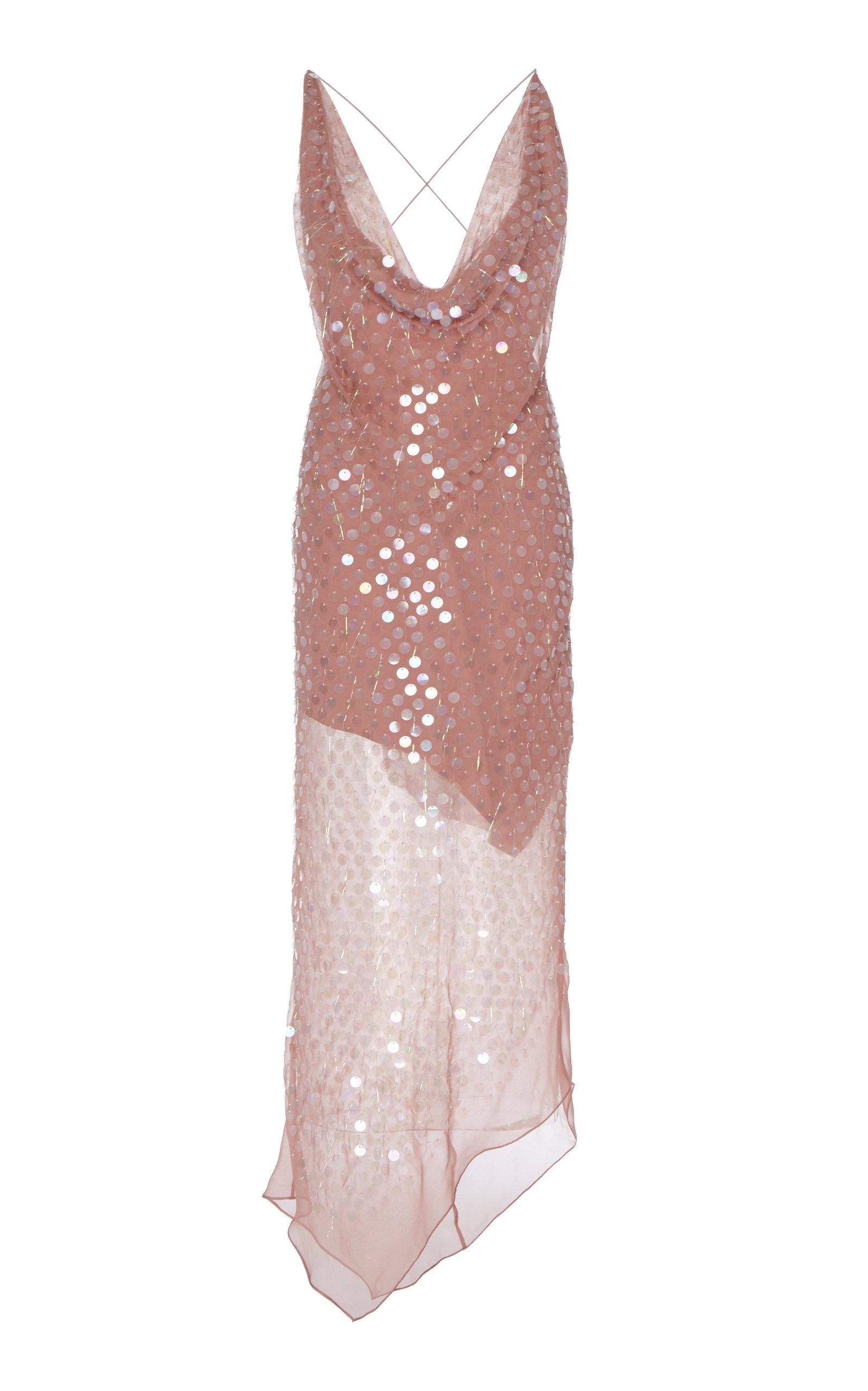 Buy Cushnie Sequined Silk-Chiffon Midi Dress online, shop Cushnie at the best price