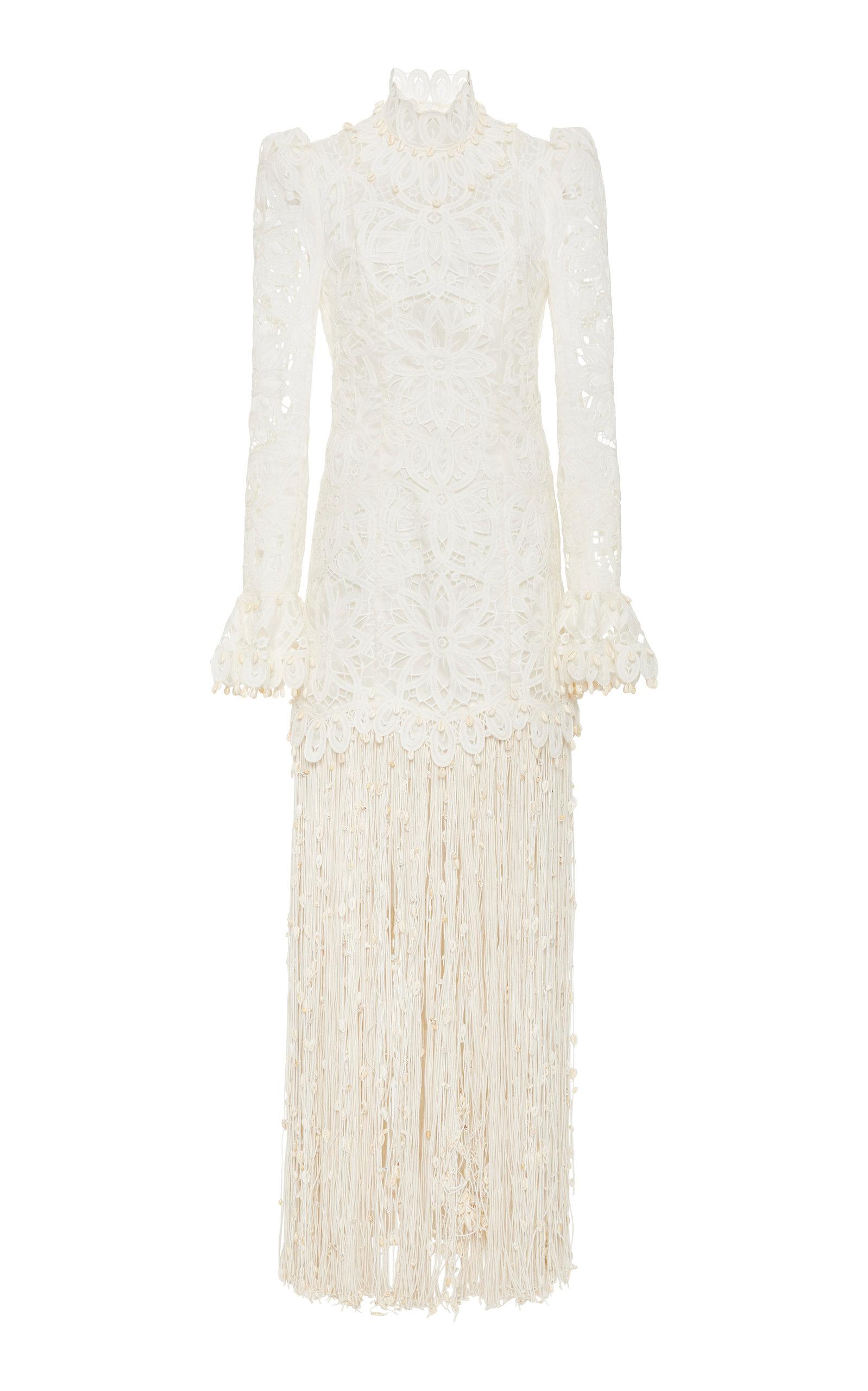 Buy Zimmermann Wavelength Fringed Gown online, shop Zimmermann at the best price