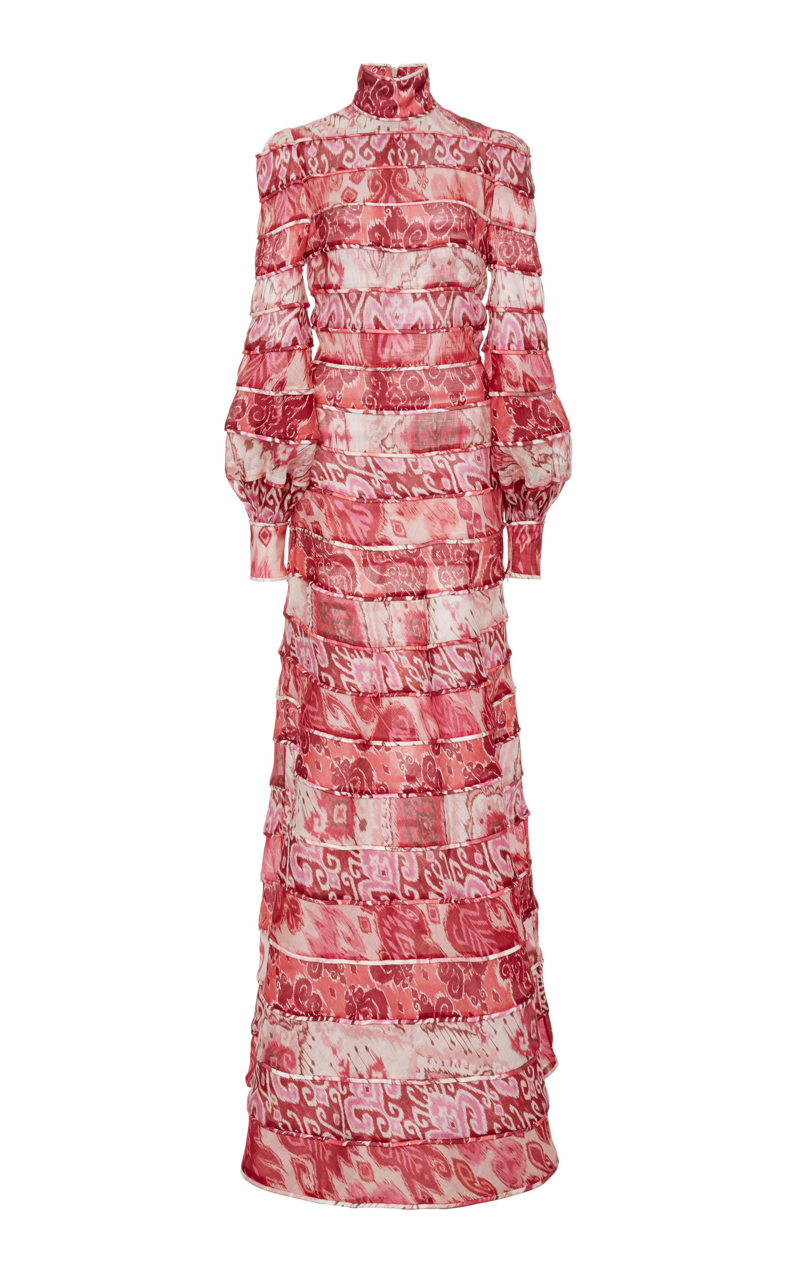 Buy Zimmermann Wavelength Tiered Printed Silk Dress online, shop Zimmermann at the best price