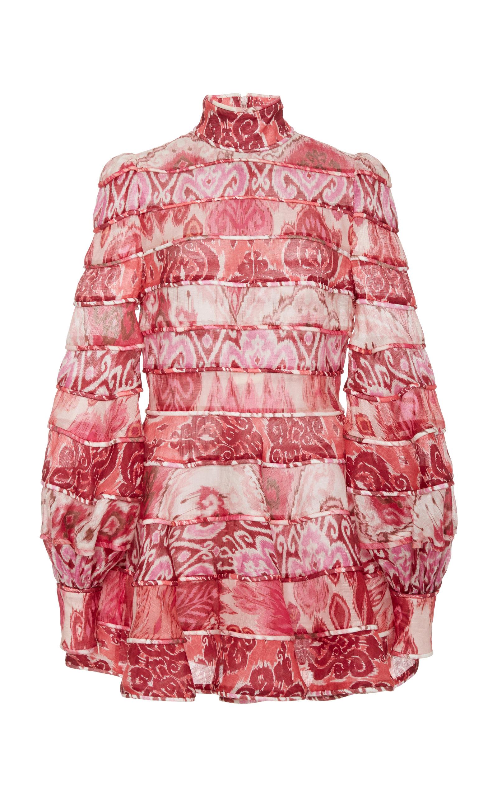 Buy Zimmermann Wavelength Spliced Mini Dress online, shop Zimmermann at the best price
