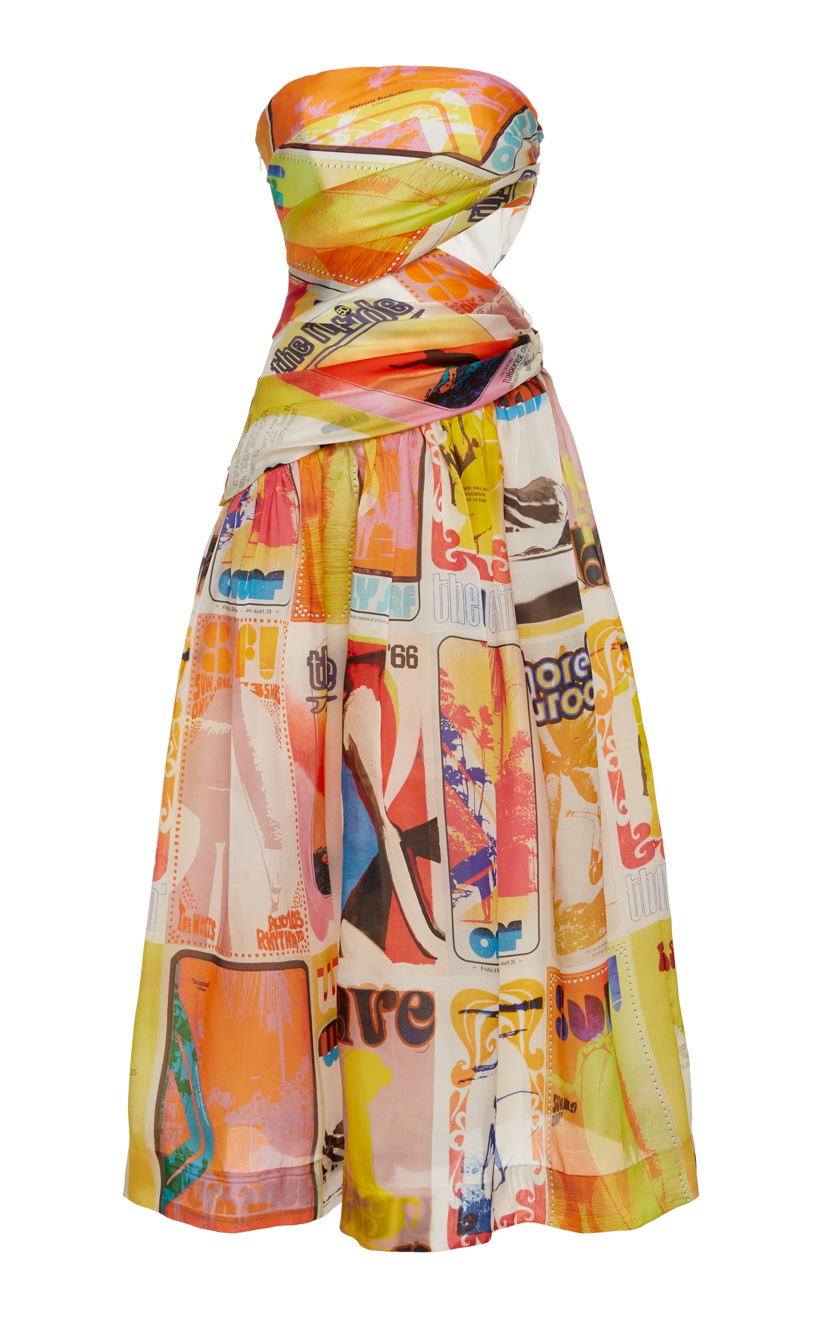 Buy Zimmermann Brightside Wrap Midi Dress online, shop Zimmermann at the best price